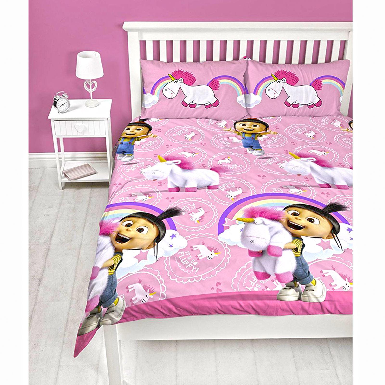 moi moche et m chant r ve veill licorne agnes set housse de couette double ebay. Black Bedroom Furniture Sets. Home Design Ideas