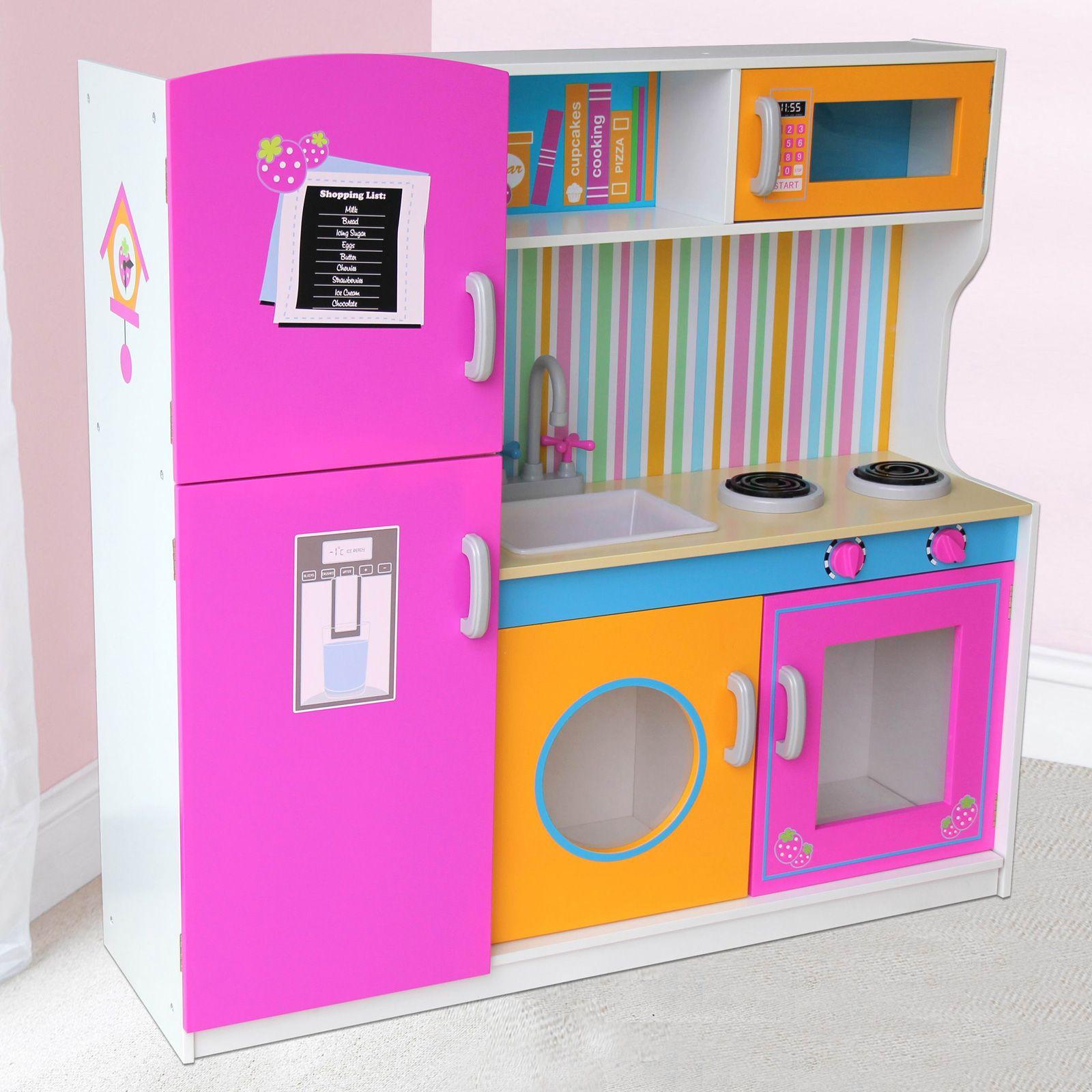 leomark bois cuisine enfants jeux cuisine avec accessoires jouets nouveau ebay. Black Bedroom Furniture Sets. Home Design Ideas