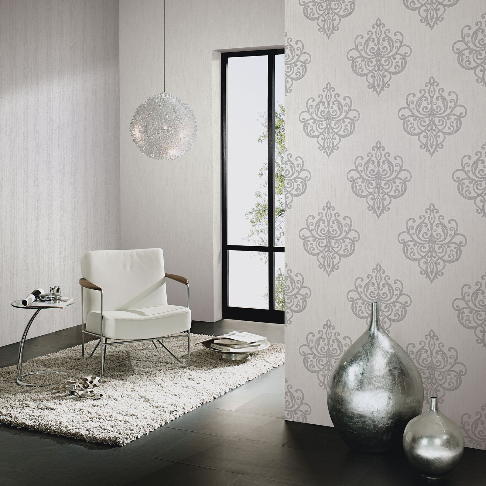 P s opal damask wallpaper carat glitter wallpaper feature for Wallpaper glitter home