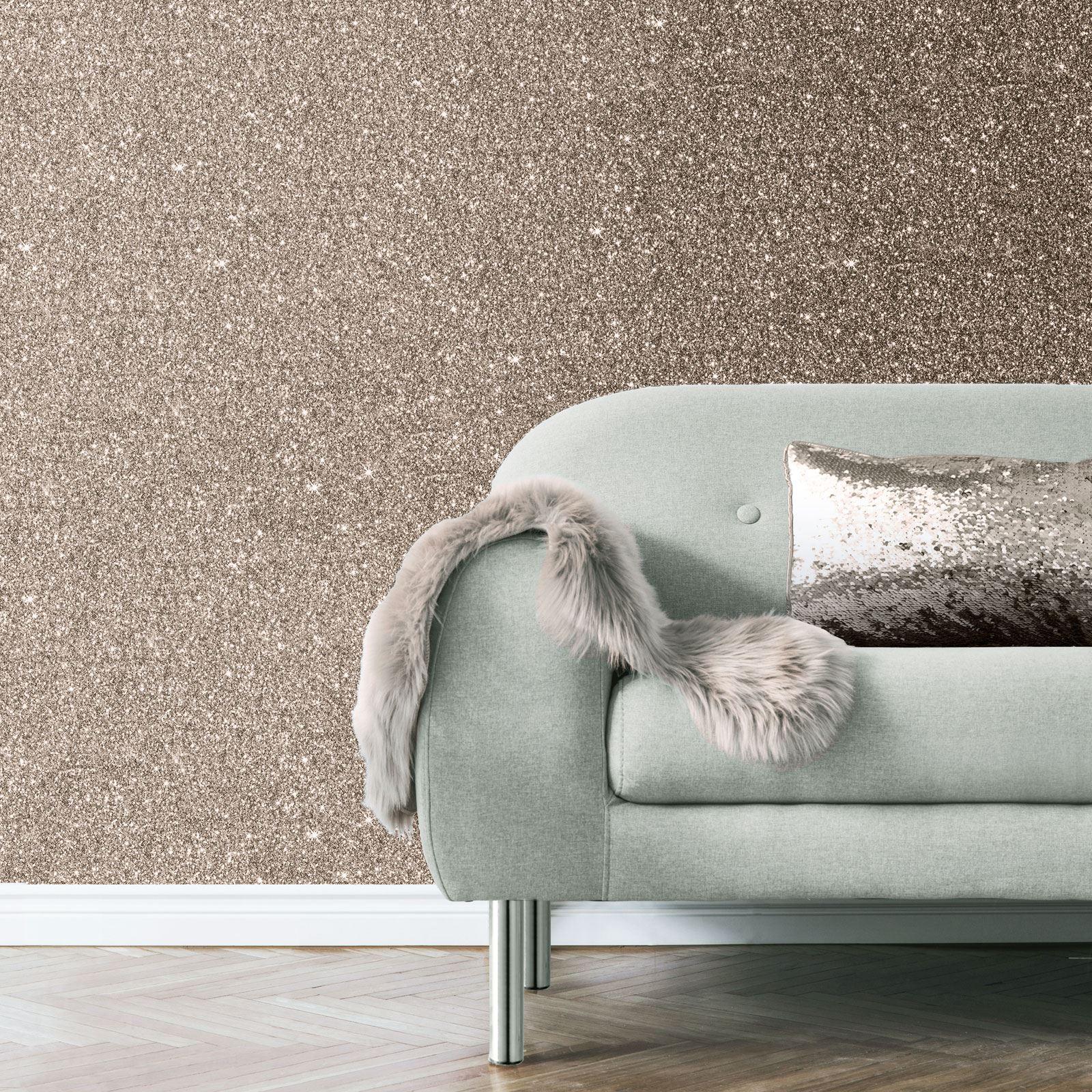 Rotgold-Tapete-Grau-Creme-Exotisch-Blumen-Tropisch-Palme-Blaetter-Geometrisch Indexbild 74