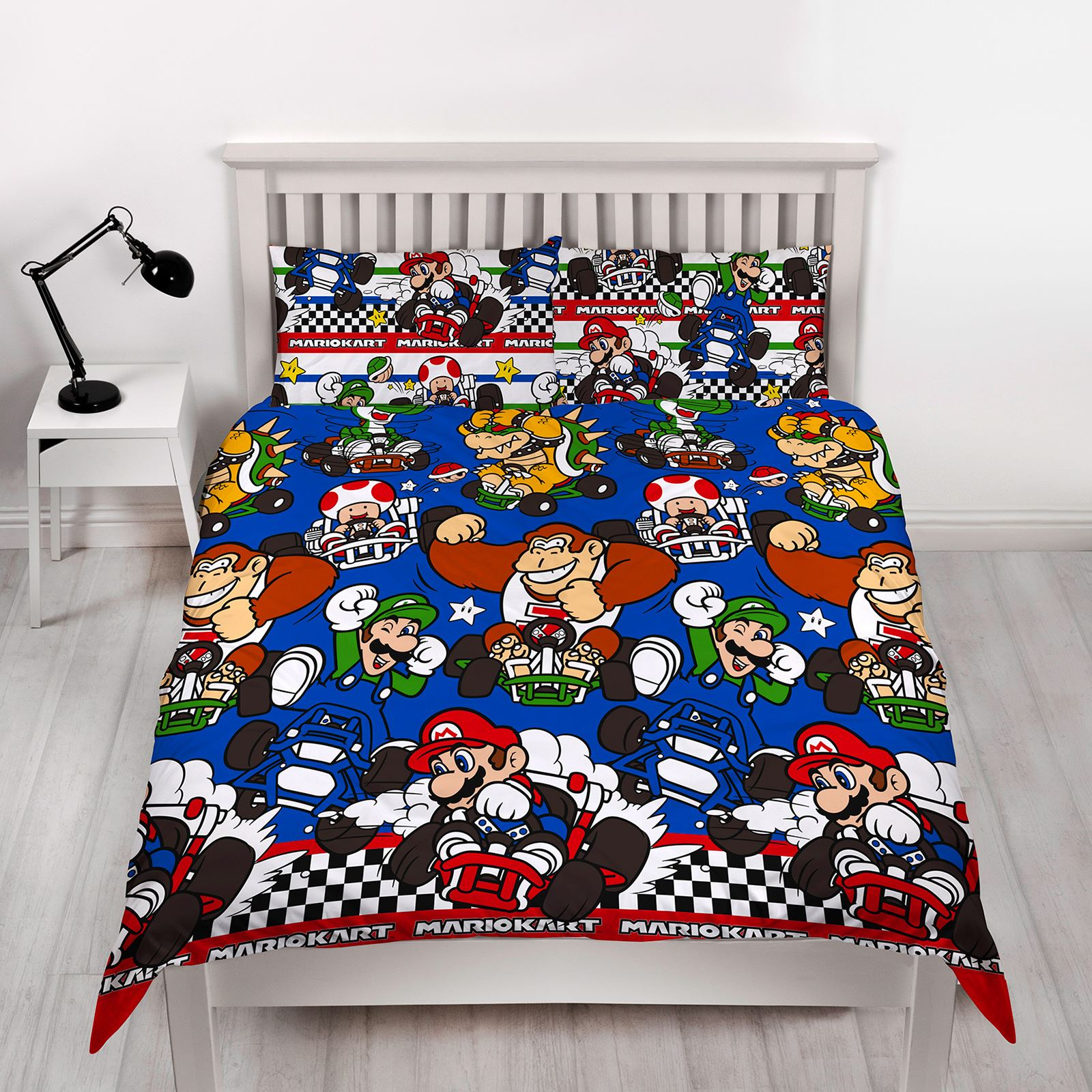 Picture of: Official Nintendo Super Mario Bedding Duvet Cover Set Single Double Blanket Ebay