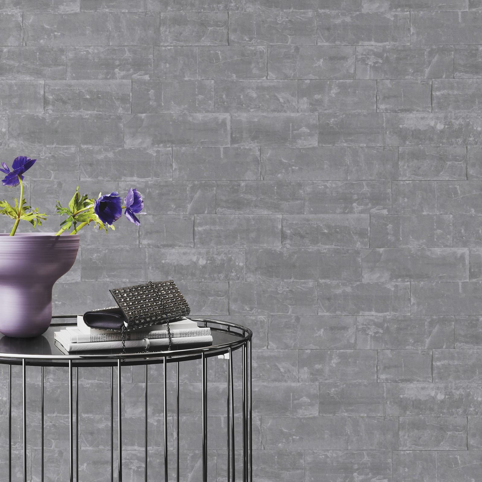 Rasch Amp Fine Decor 10m Luxury Brick Effect Wallpaper Stone