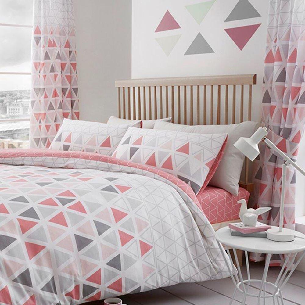 geometric curtains themed and white bedding black modern duvet