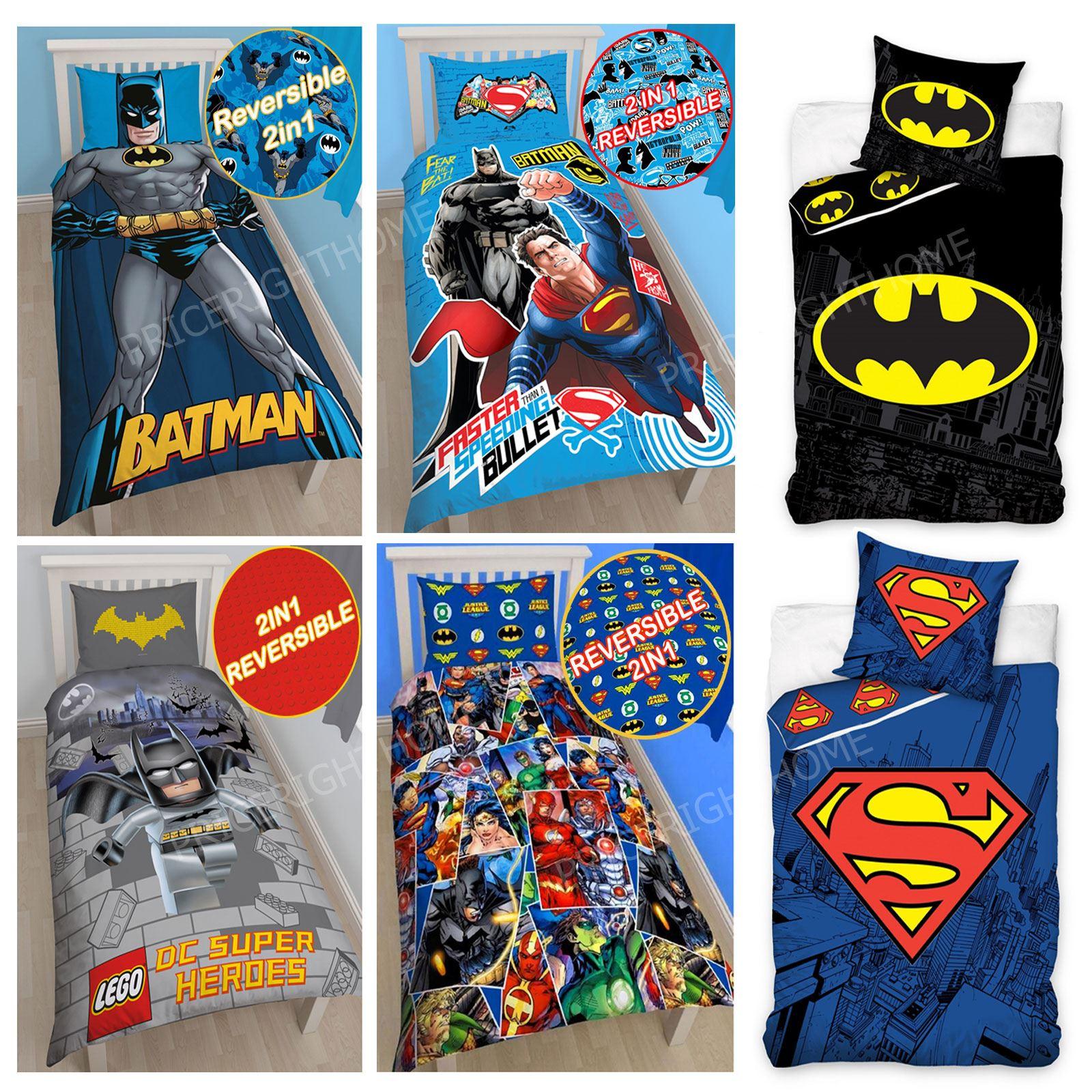 dc comics batman superman duvet cover and pillowcase sets dc comics batman superman duvet cover and pillowcase sets bedroom bedding kids