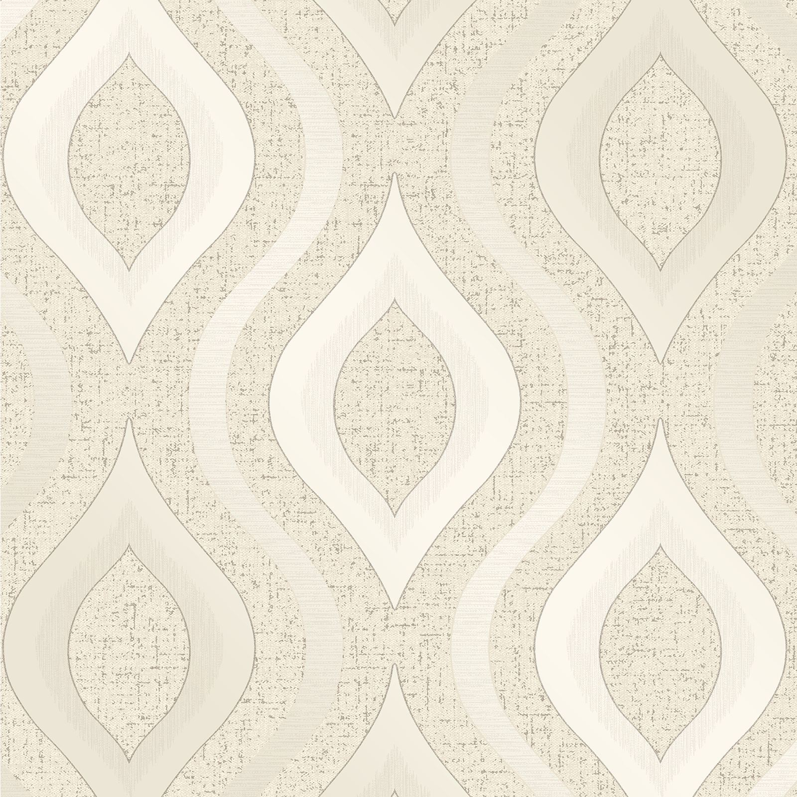 fine decor quartz geometric wallpaper rose gold silver