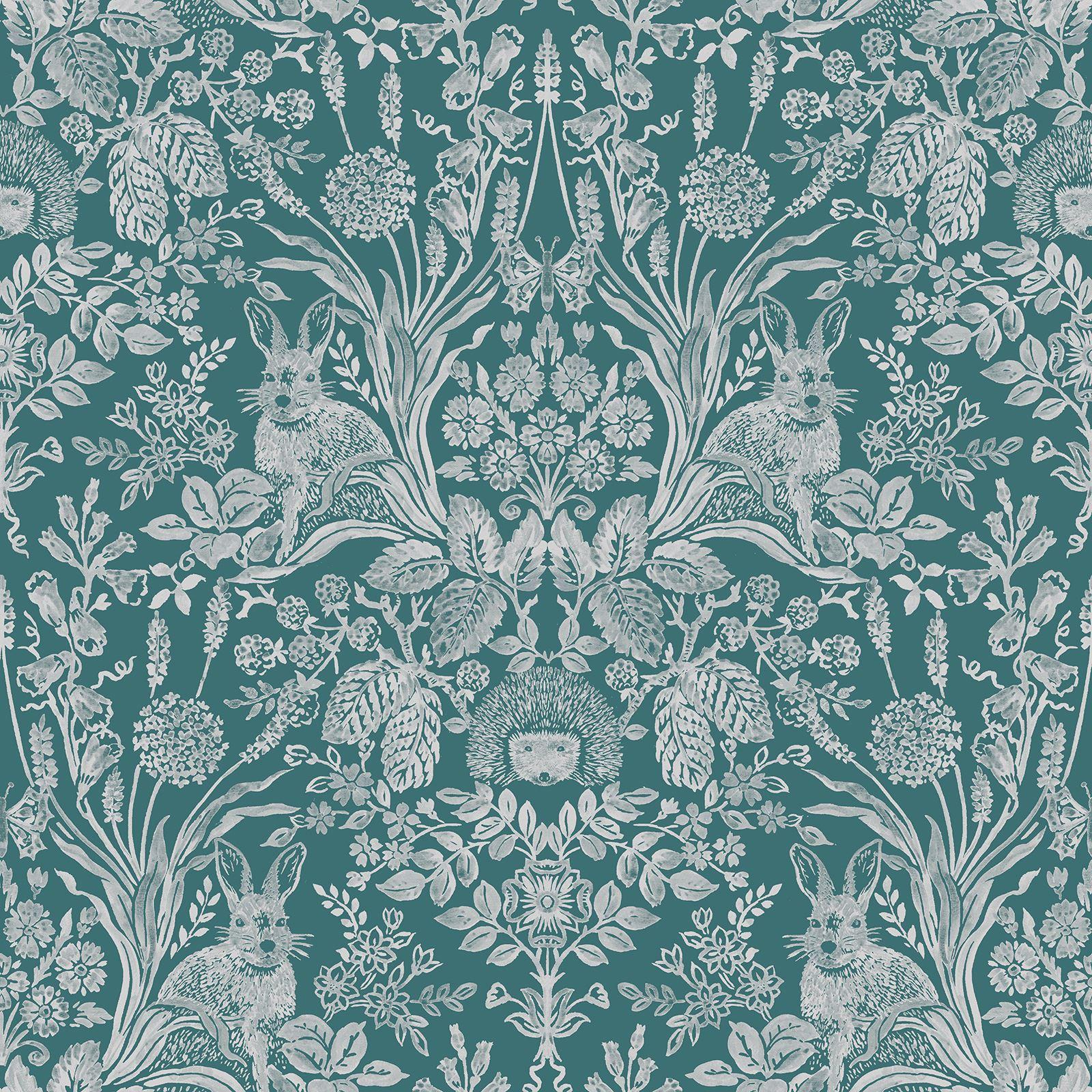 Dark Green Harlen Woodland Wallpaper By Holden 90805 Wildflowers