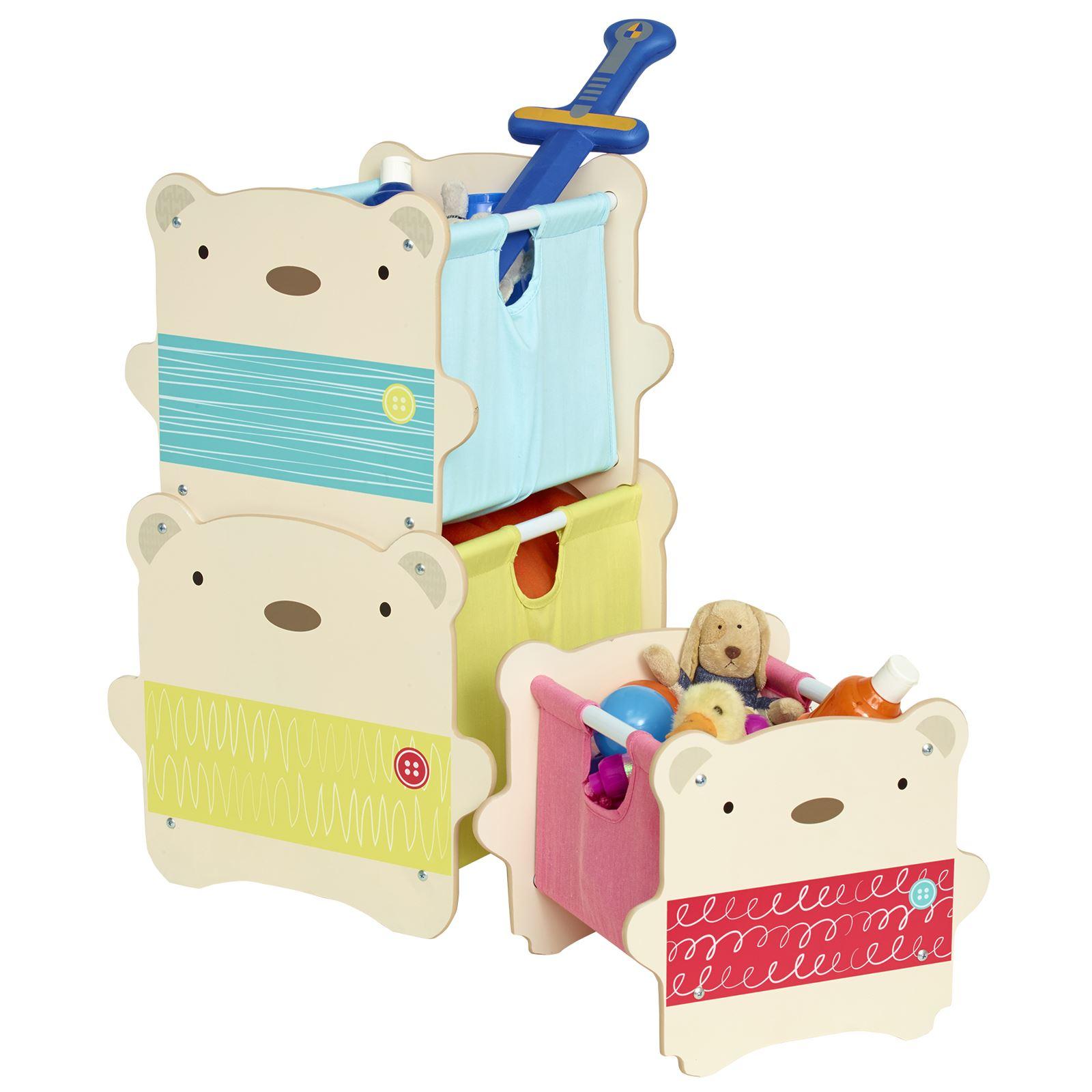 Kids Storage Cube Organizer Toy Box Kids Bedroom Furniture: BEAR HUG KIDS BEDROOM FURNITURE