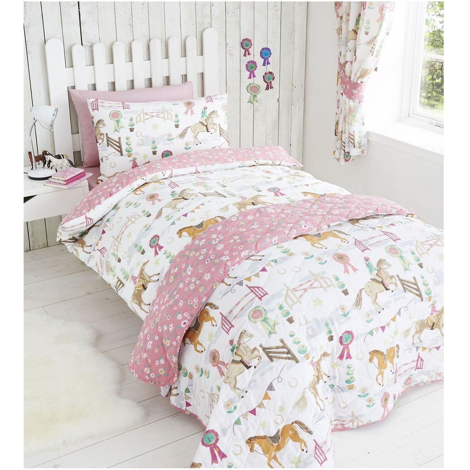 girls bedding HORSE SHOW DUVET COVER SETS IN VARIOUS SIZES GIRLS BEDDING BEDROOM NEW