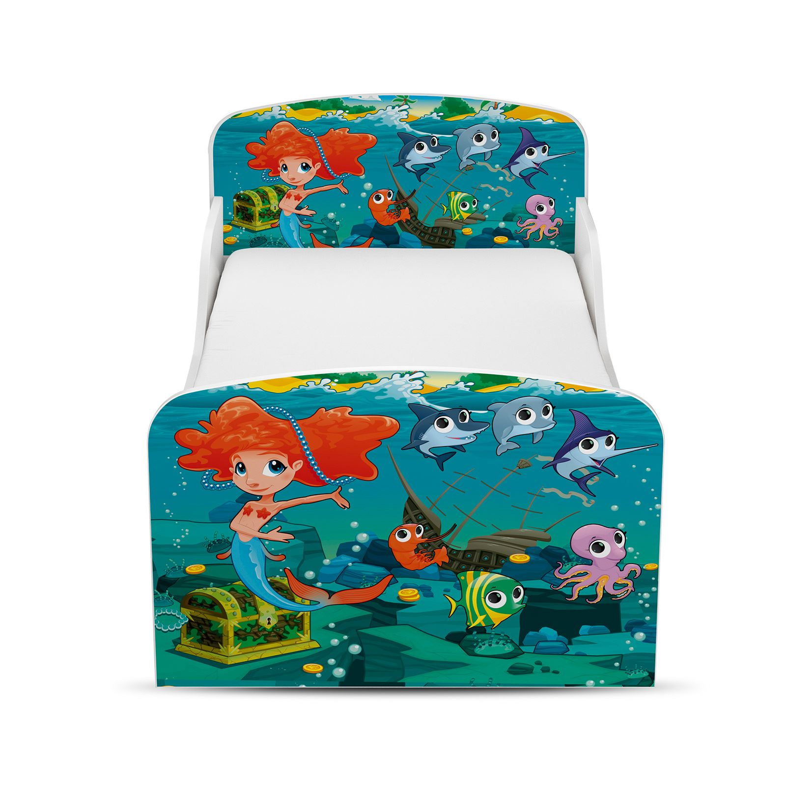 Mermaid Toddler Bed Foam Mattress Girls Kids Junior