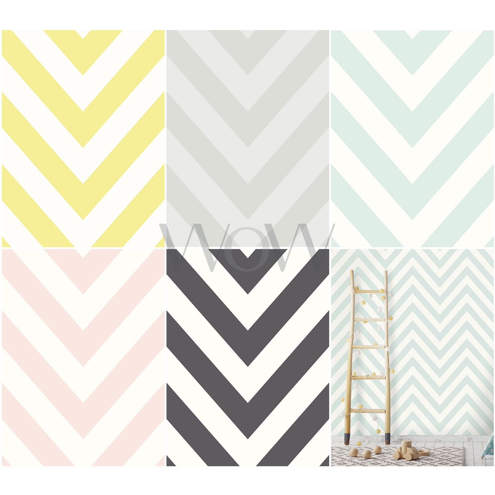 Details About Holden Chevron Zig Zag Wallpaper Geometric Feature Wall