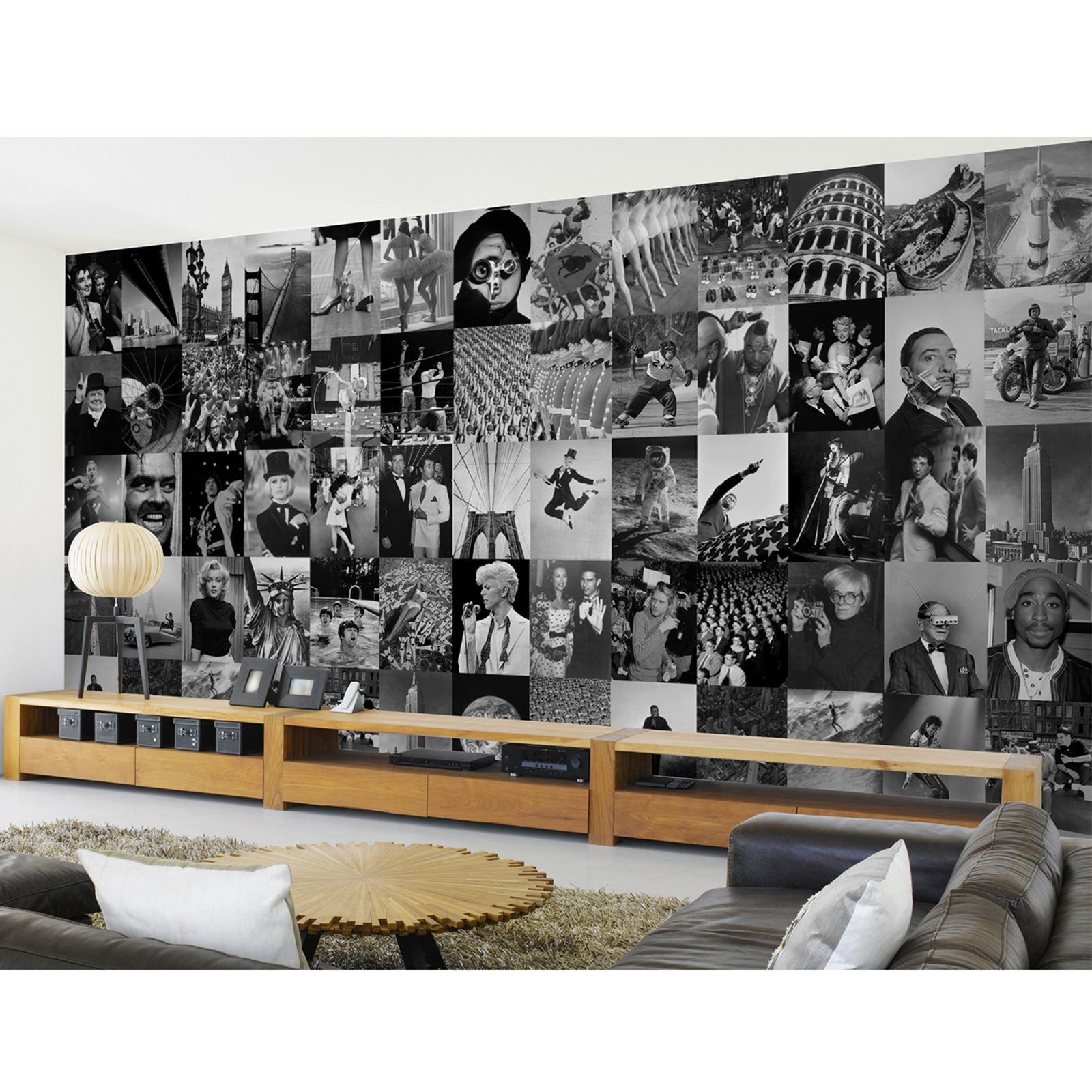 Creative collage designer 64 piece wall mural new york for Mural collage