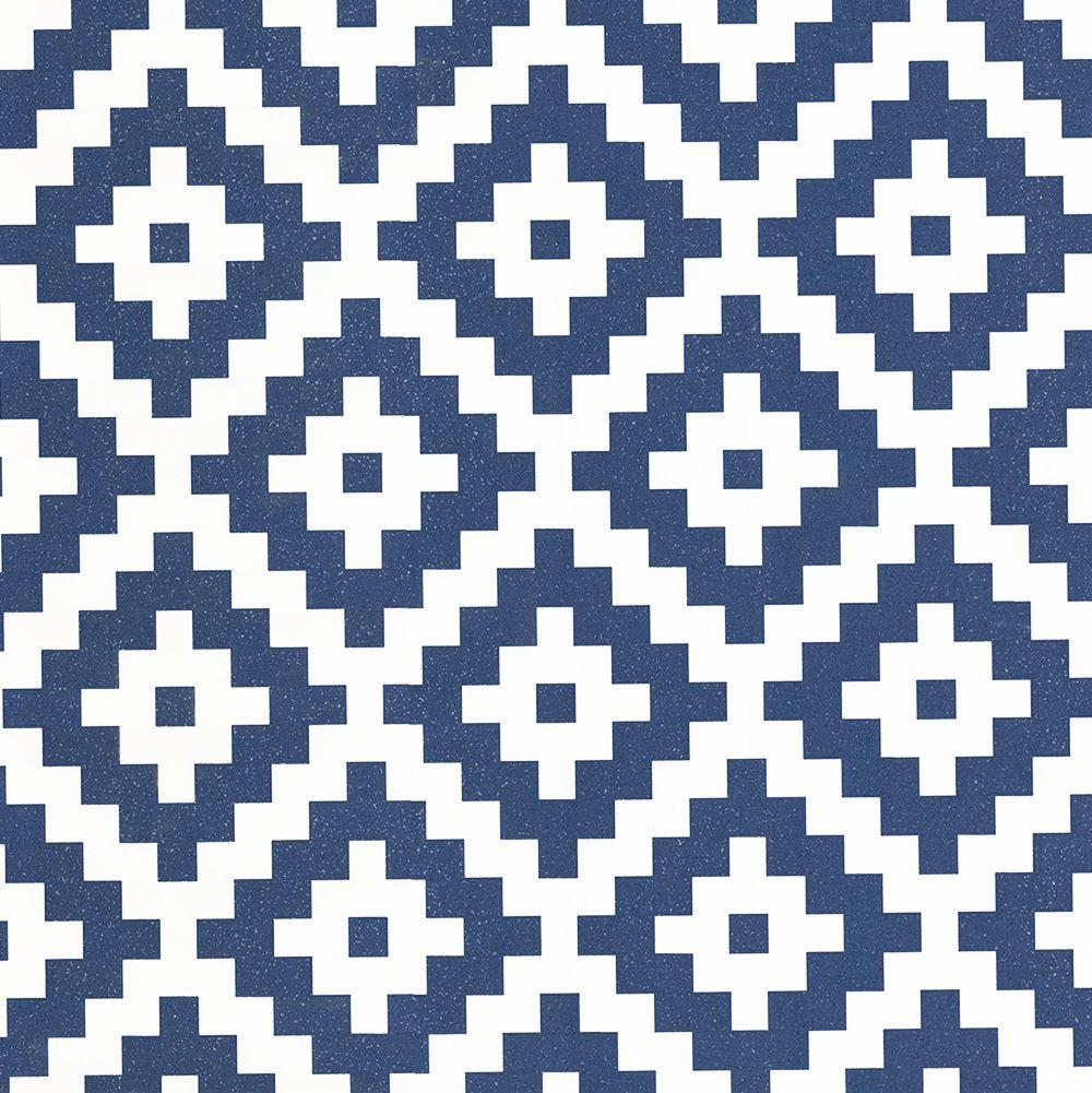 P S AZTEC DIAMOND GEOMETRIC GLITTER WALLPAPER BLACK BLUE