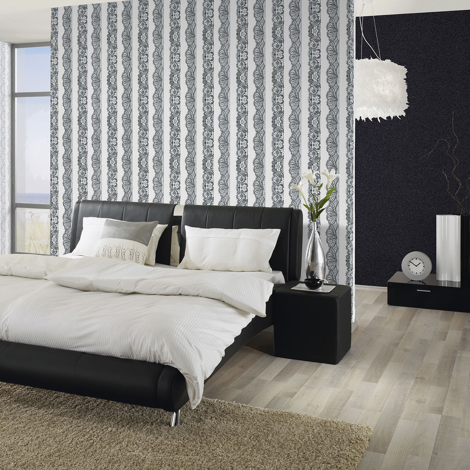 wall hangings for bedroom catherine lansfield lace effect wallpaper 3 colours 17743
