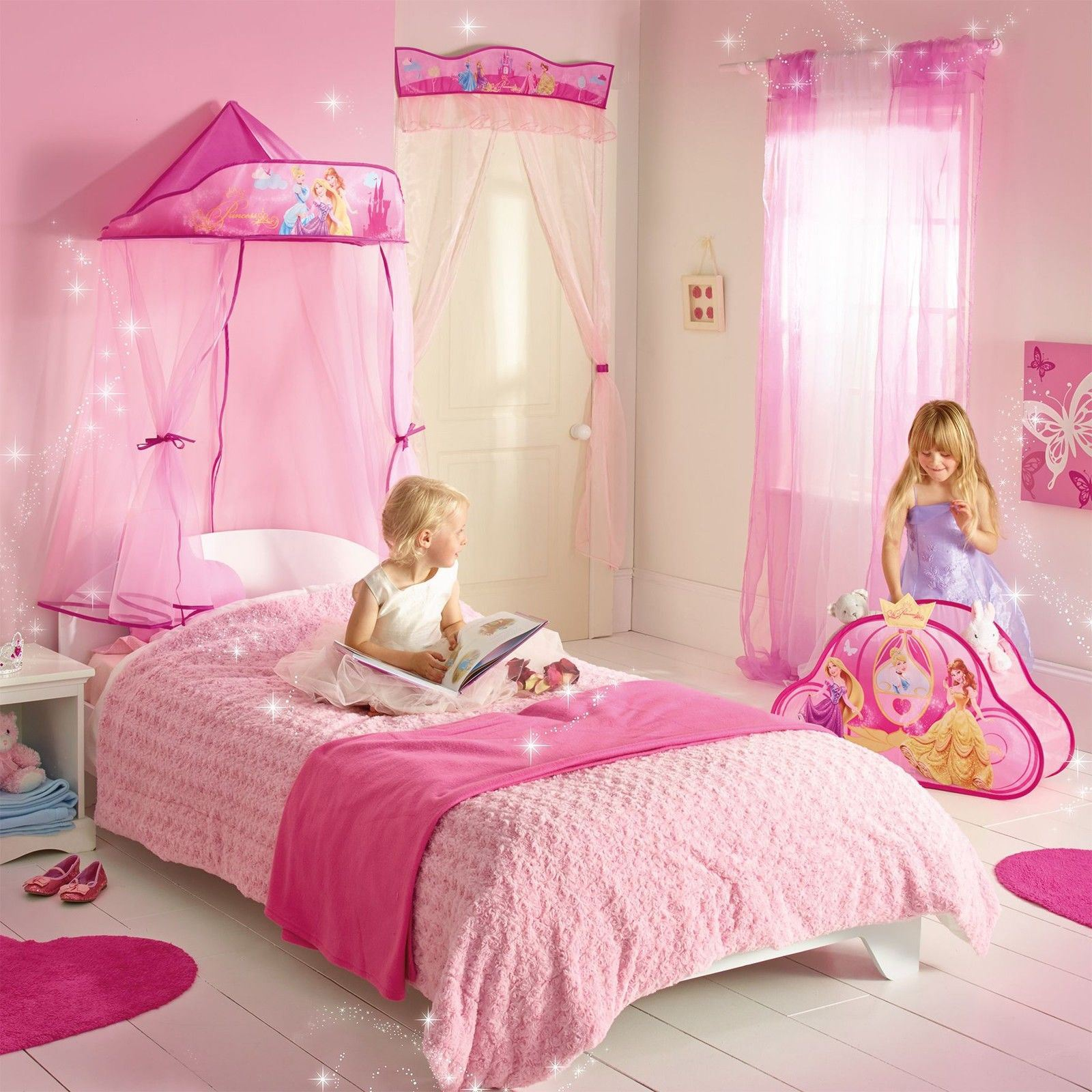 disney princess wandbehang bett baldaching neu m dchen. Black Bedroom Furniture Sets. Home Design Ideas