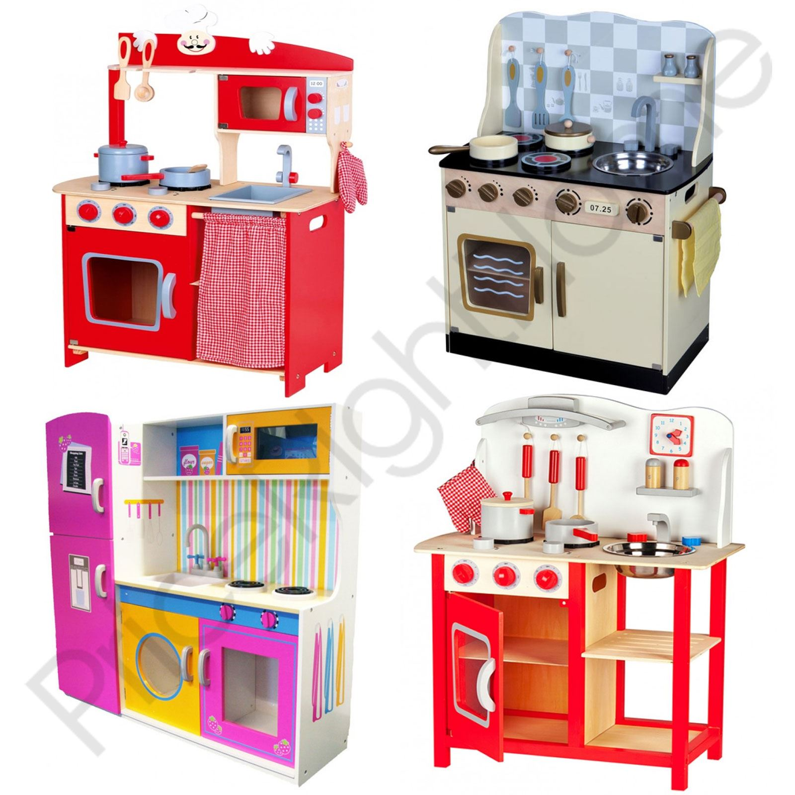 LEOMARK WOODEN KITCHEN CHILDRENS PLAY KITCHEN WITH ACCESSORIES TOYS ...