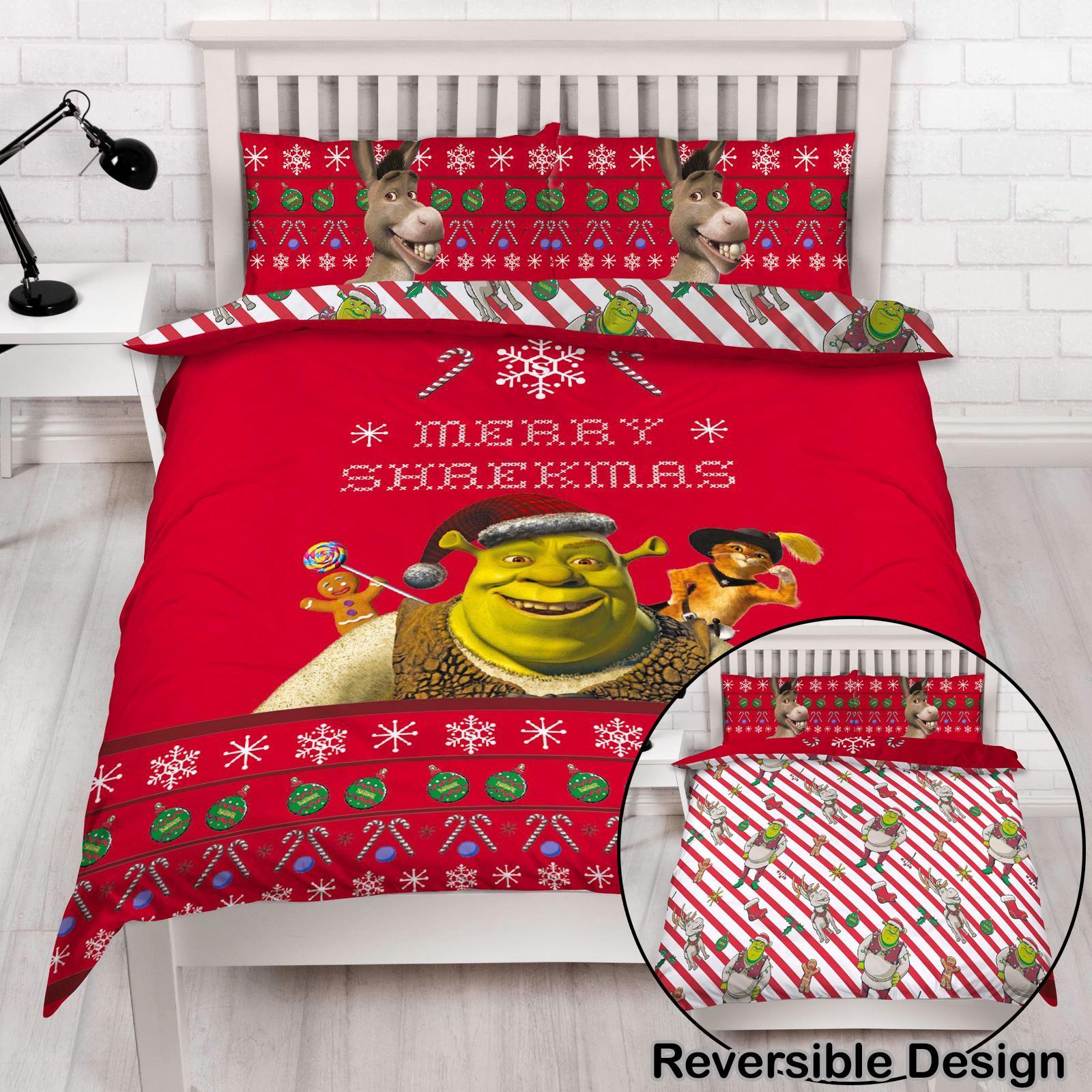 Indexbild 44 - Kinder Weihnachten Bettbezug Sets - Junior Einzel Doppel King - Elf Emoji Grinch