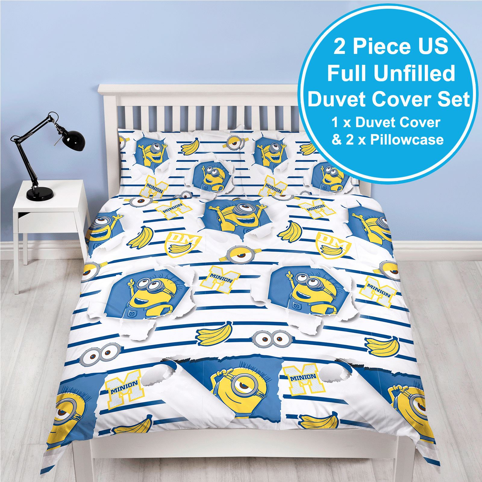 Character Despicable Me 2 Minions Bananas Lets Try Harder Reversible Single Duvet Cover Rotary Movie by Other