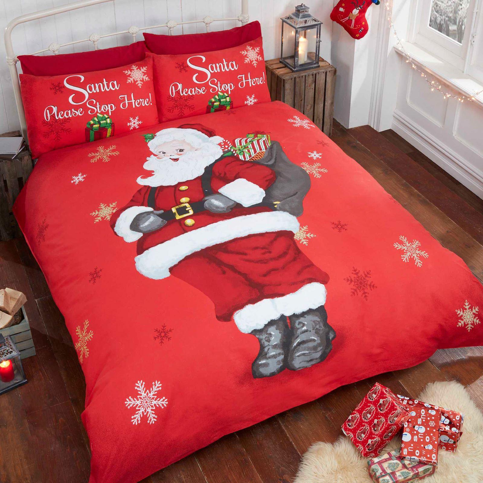 single christmas bedding