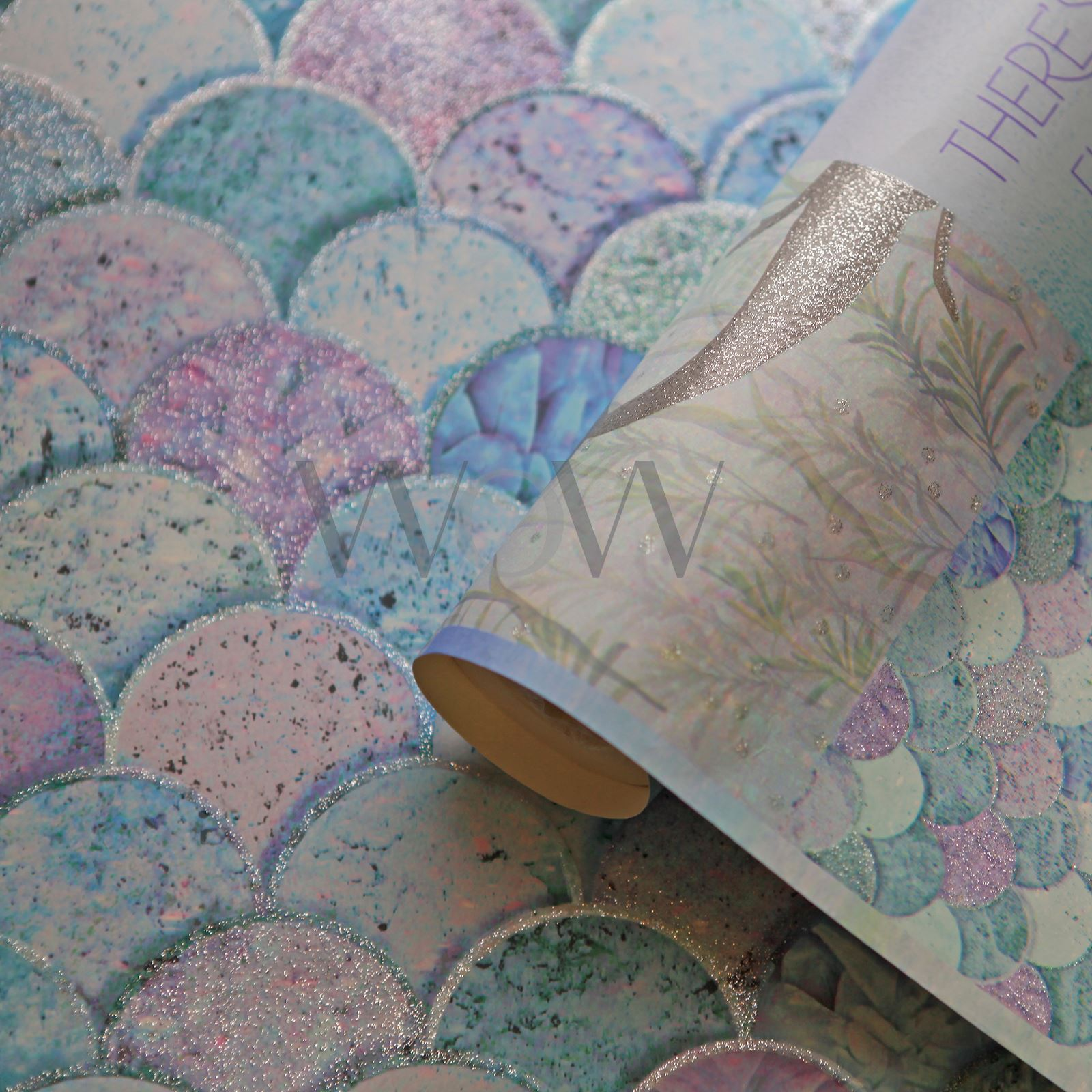 Mermazing Mermaid Scales Glitter Wallpaper Arthouse