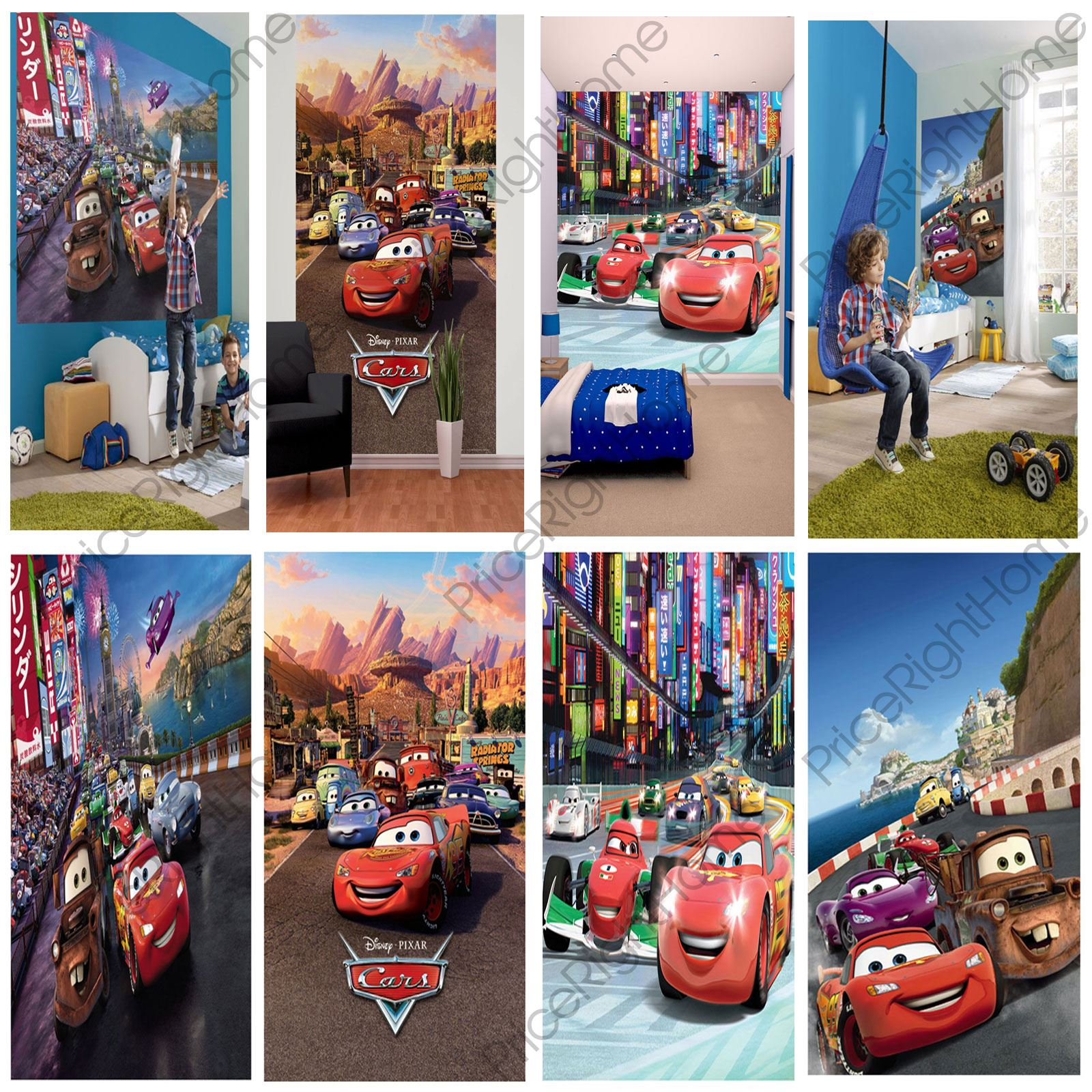 Disney cars wall murals 6 designs available kids bedroom for Disney cars mural uk