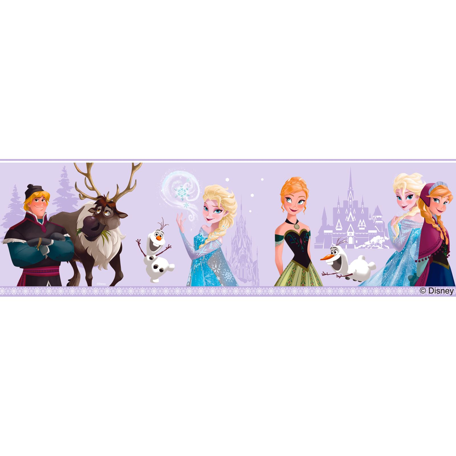 Disney frozen wallpaper borders and wall stickers wall for Disney wall mural stickers