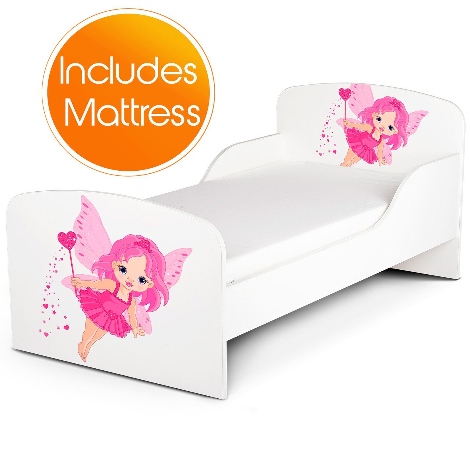 Fairy Dust Junior Toddler Bed Foam Mattress Pink White Kids