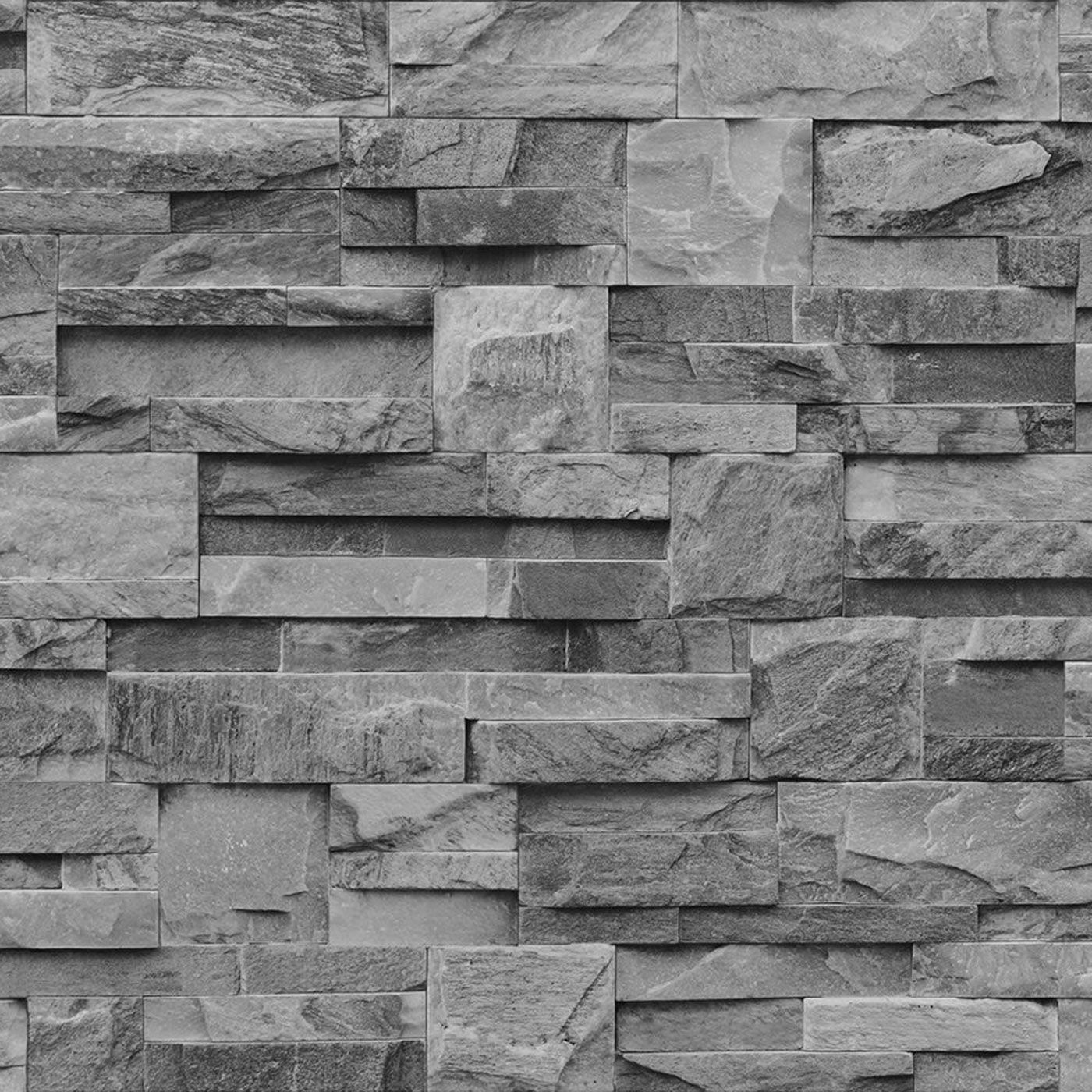 Schiefer Stein Wand Effekt Tapete Modern Wandtapete