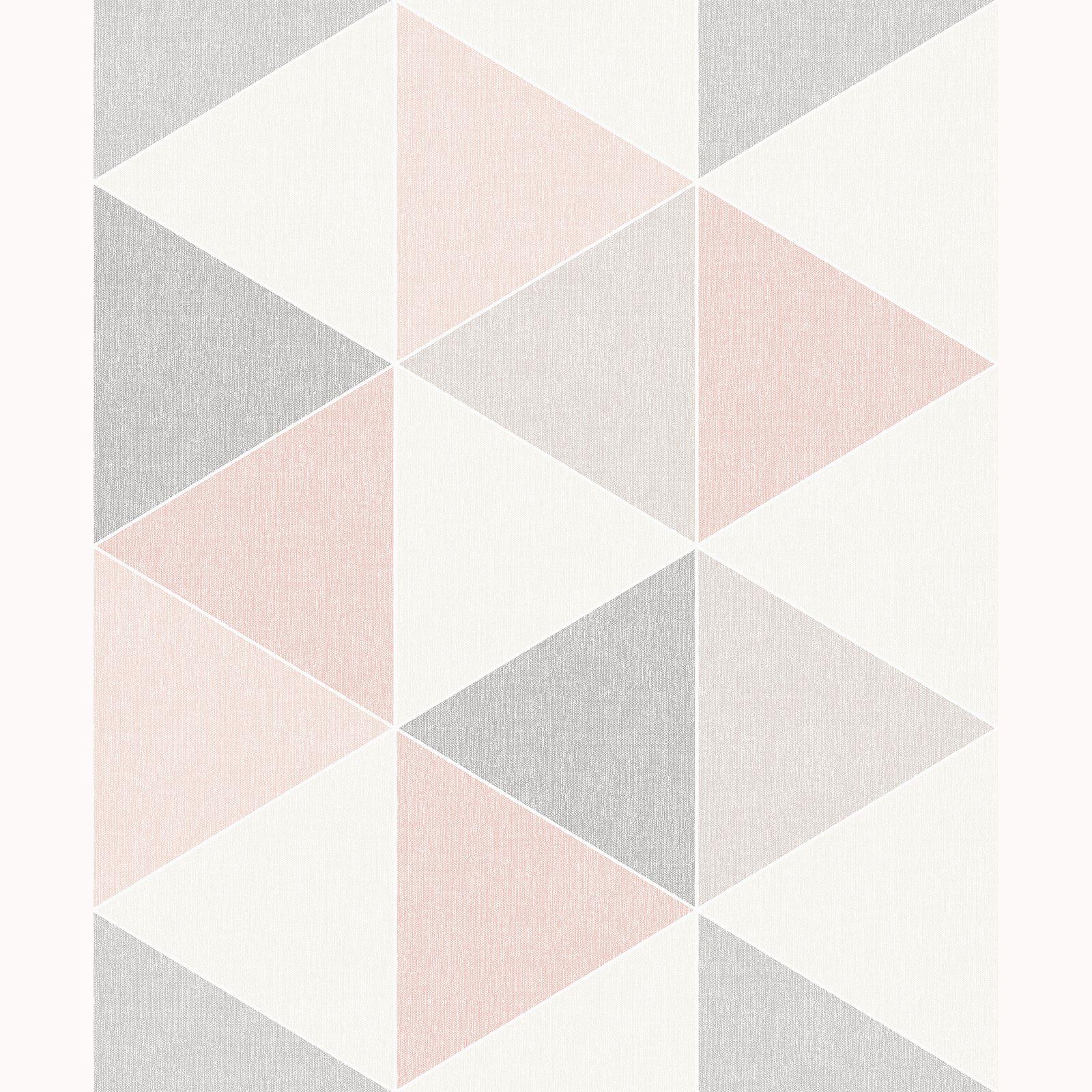 Rosa Gris Scandi Geo Tri 225 Ngulos Papel Pintado Arthouse