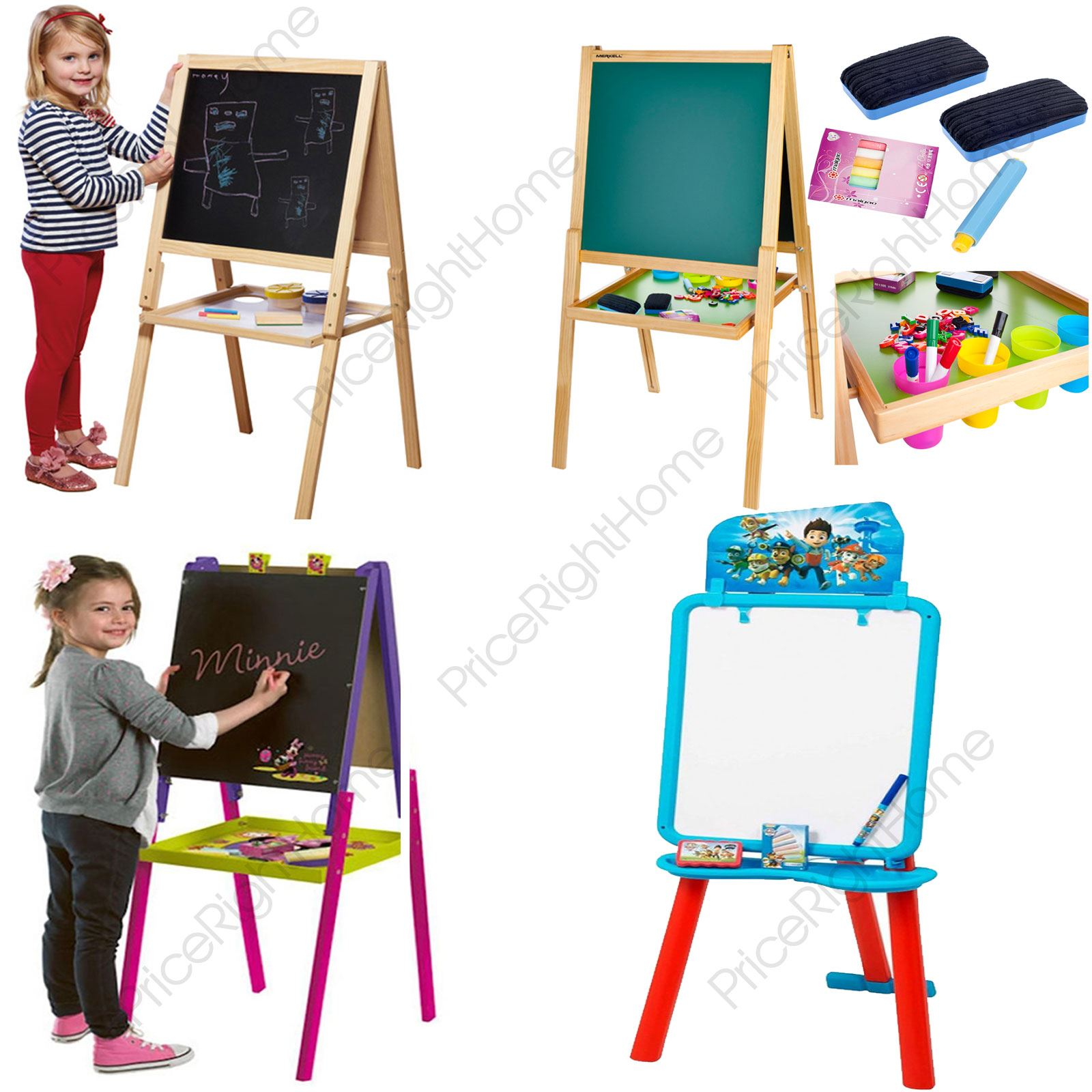 Kids Easel Chalk Drawing Board Double Sided Age 3
