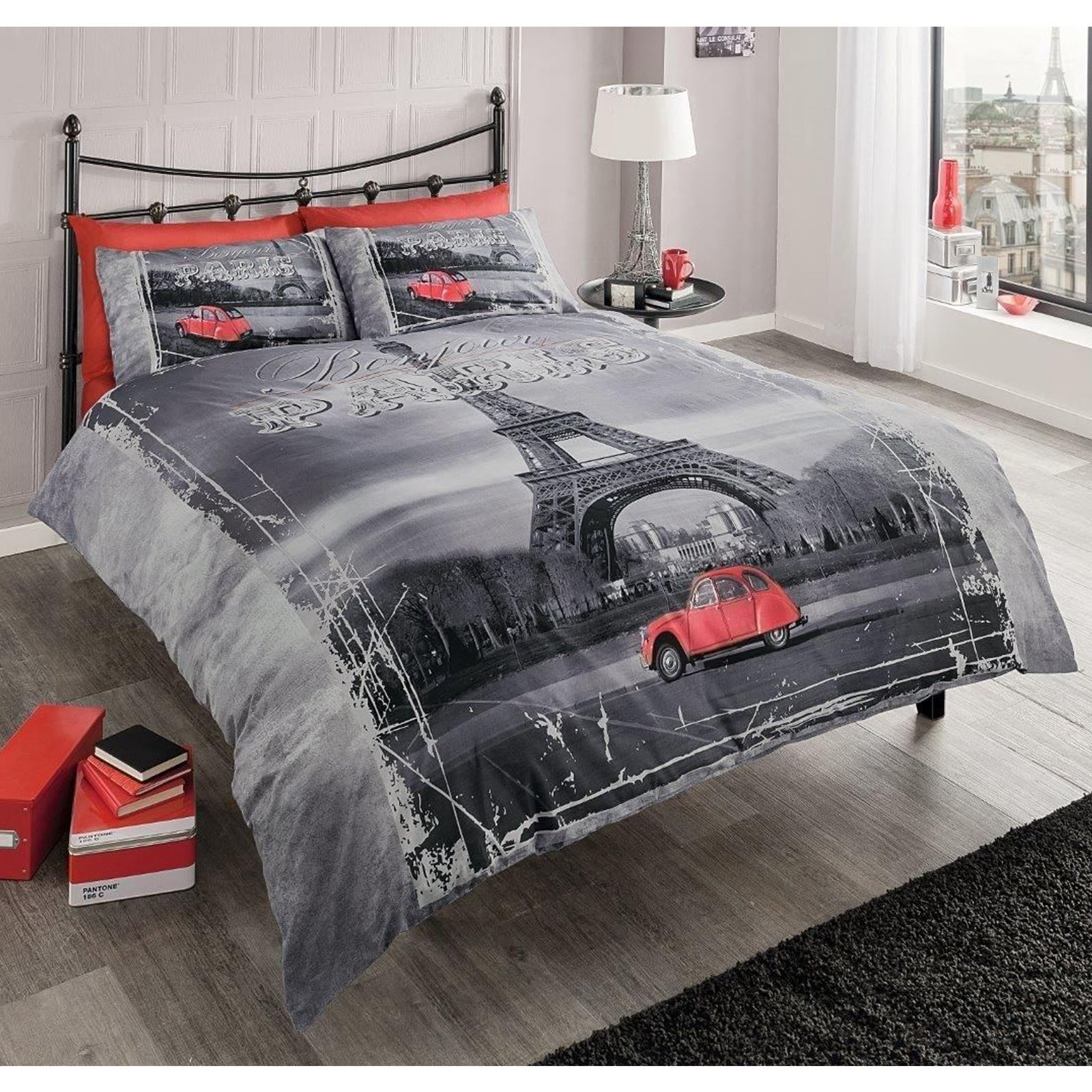 WORLD CITIES DUVET COVER SETS SINGLE DOUBLE KING LONDON NEW YORK