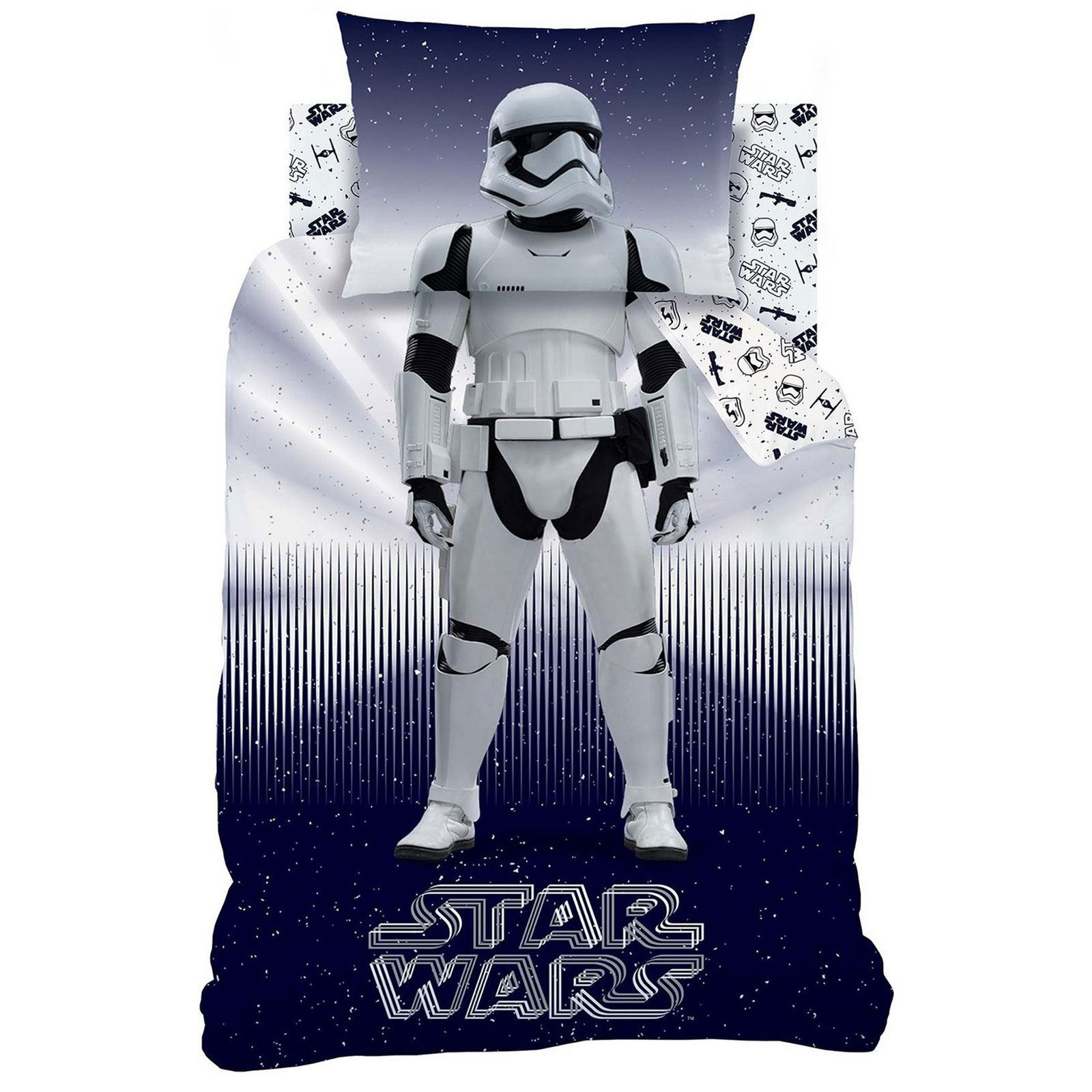 star wars storm trooper einzelbettbezug set jungen 2 in 1 design ebay. Black Bedroom Furniture Sets. Home Design Ideas