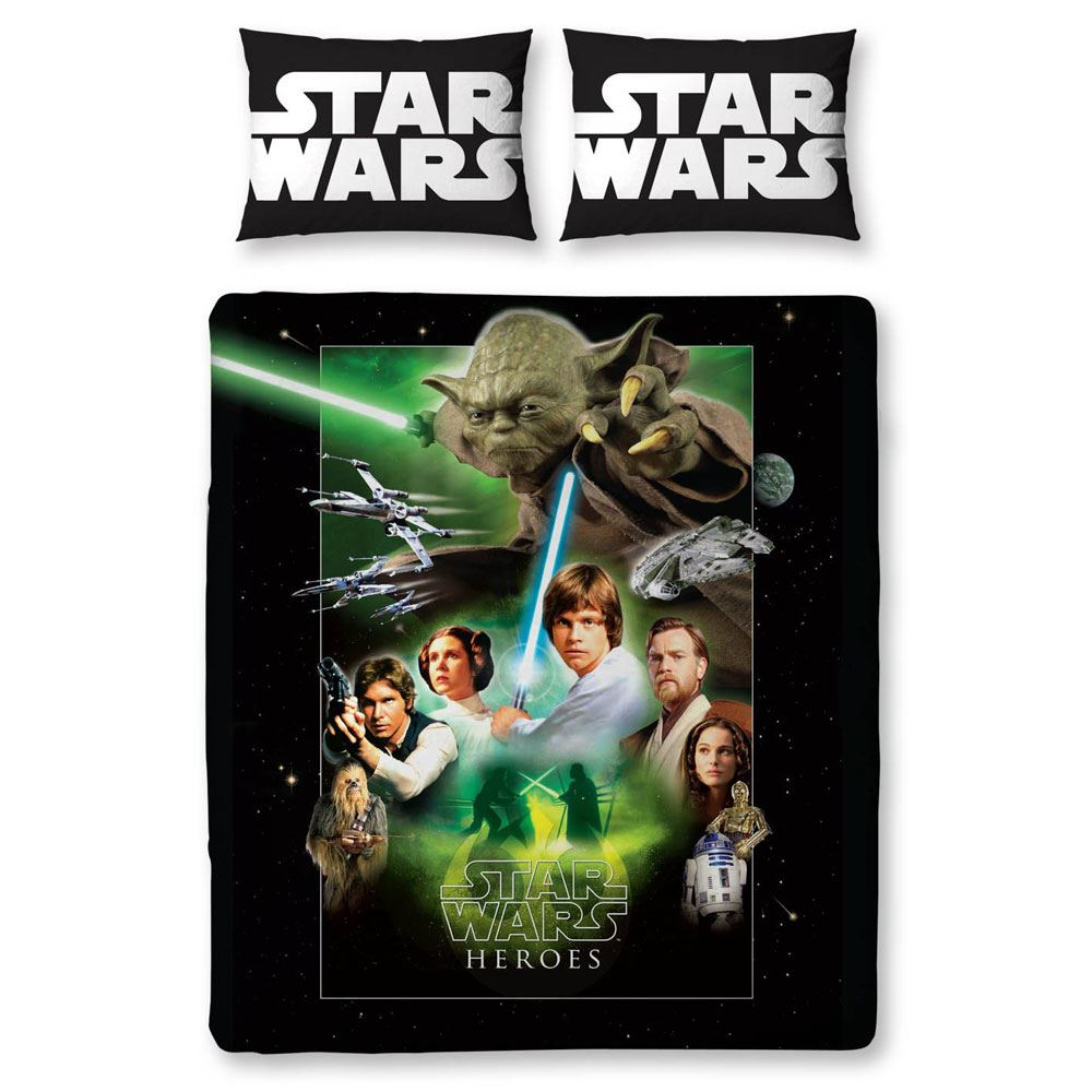 Star wars duvet covers bedding bedroom new and official ebay for Parure de lit 200x200