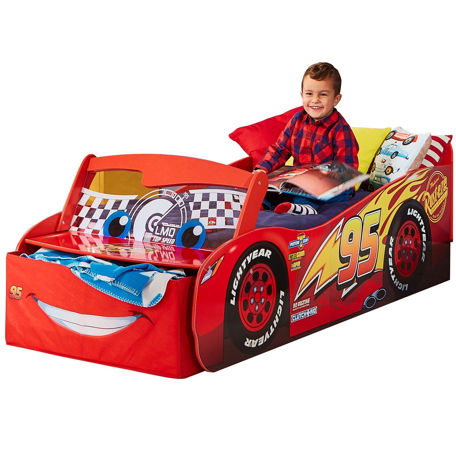 Letto Di Cars.Dettagli Su Disney Cars Lettino Con Contenitore Luce Fino Parabrezza Materasso Opzioni