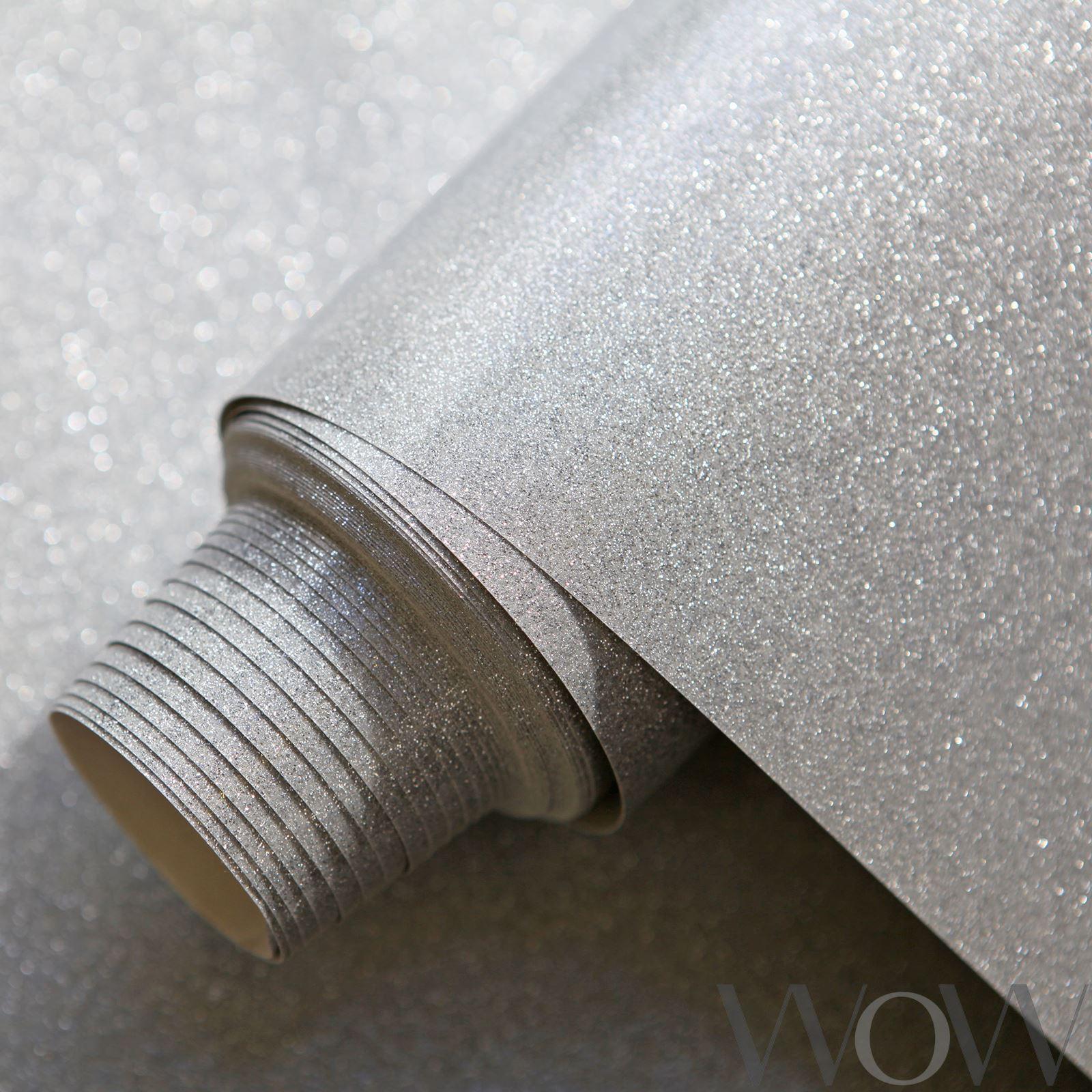 luxus glitzer funkeln tapete silber welt der tapete wwc012 glitzer ebay. Black Bedroom Furniture Sets. Home Design Ideas