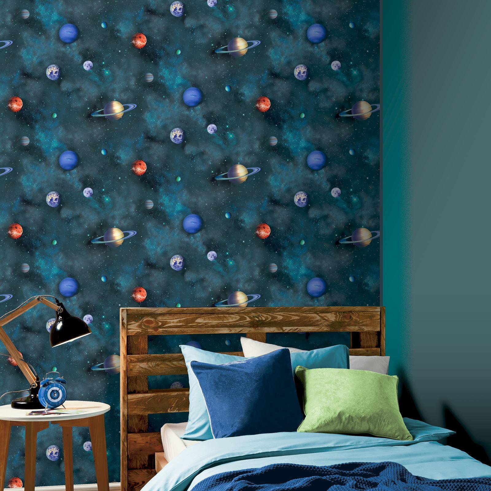 ARTHOUSE-GLITTER-DETAIL-KIDS-WALLPAPER-BEDROOM-UNICORN-MERMAID-SPACE thumbnail 71