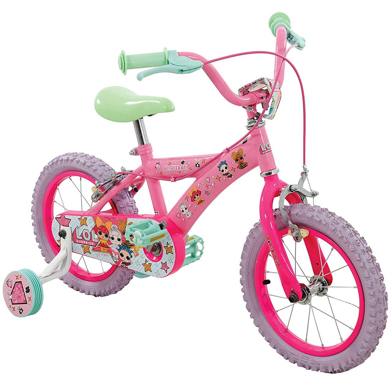 Details About Official Lol Surprise 14 Bike Bicycle Pneumatic Tyres Pink 3 Years
