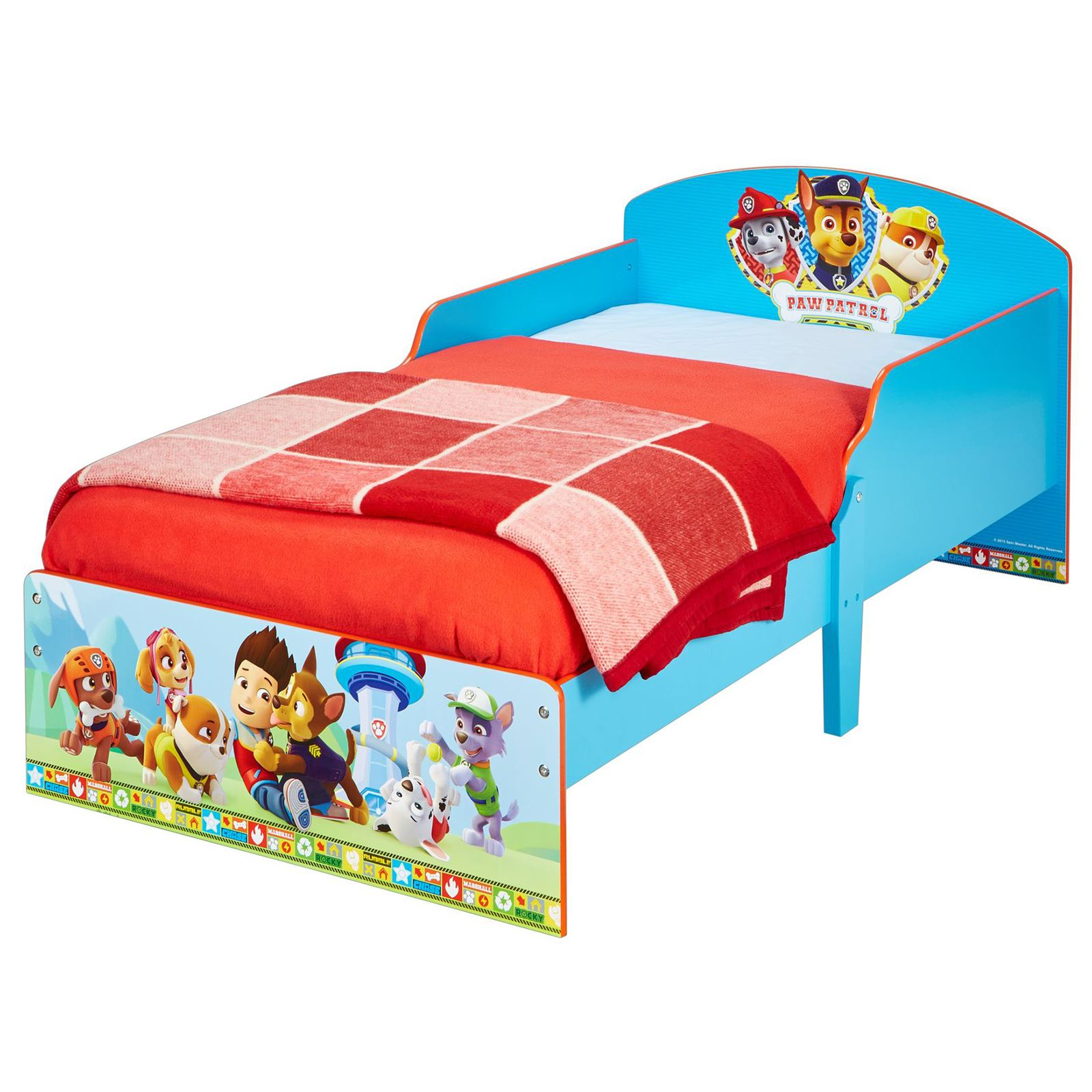 PAW PATROL TODDLER BED BLUE WITH DELUXE FOAM MATTRESS NEW FREE P