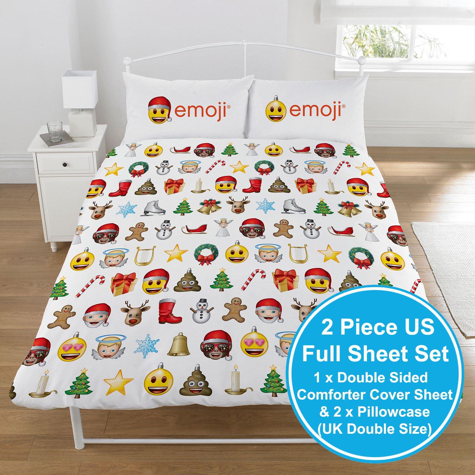 Weihnachten Emoji Festliche Doppelbett Bezug Set Emoticons Smiley ...