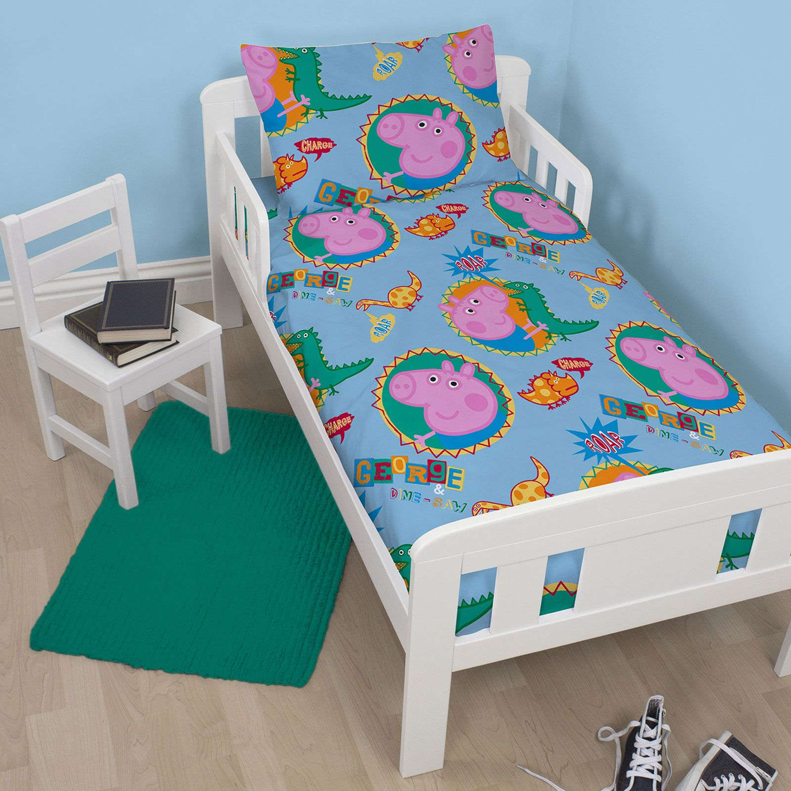PEPPA PIG AND GEORGE BEDDING SINGLE DOUBLE amp. PEPPA PIG AND GEORGE BEDDING   SINGLE  DOUBLE   JUNIOR DUVET