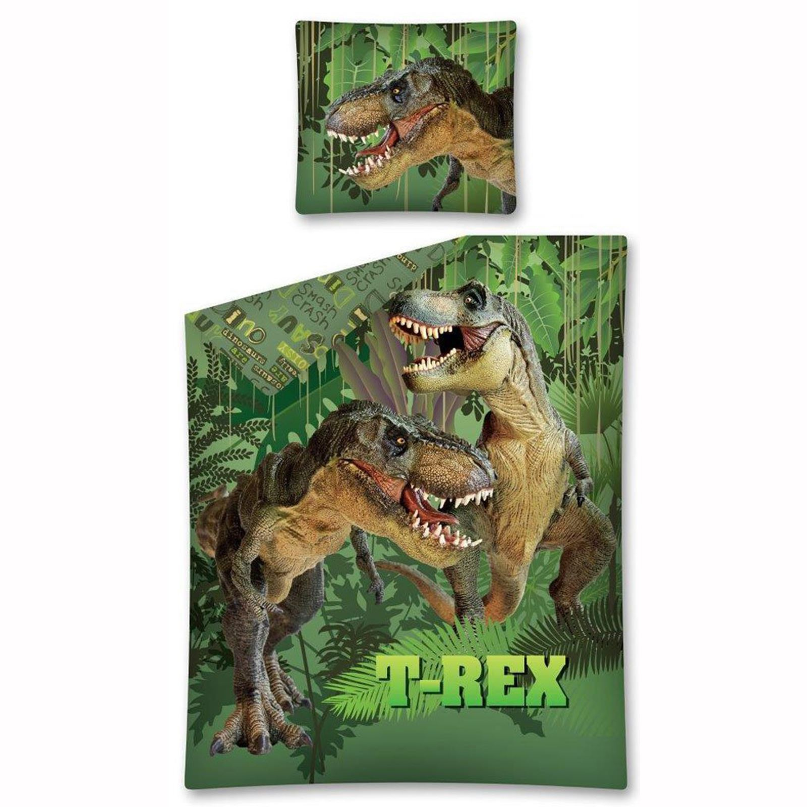 Dinosaur T Rex Jurassic Duvet Cover Sets Kids Bedding