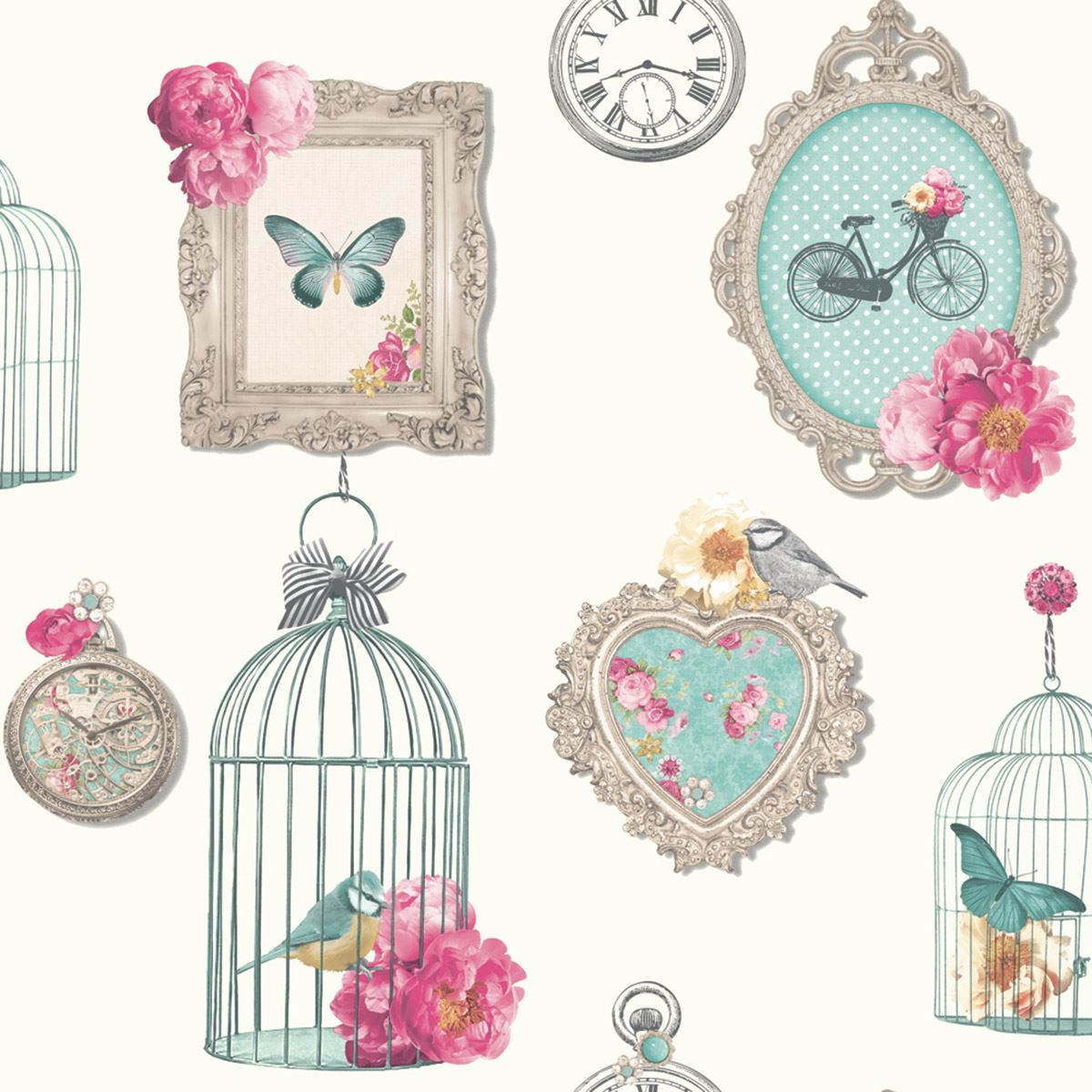 Arthouse madeline frames shabby chic wallpaper bird cage vintage arthouse madeline frames shabby chic wallpaper bird cage jeuxipadfo Gallery