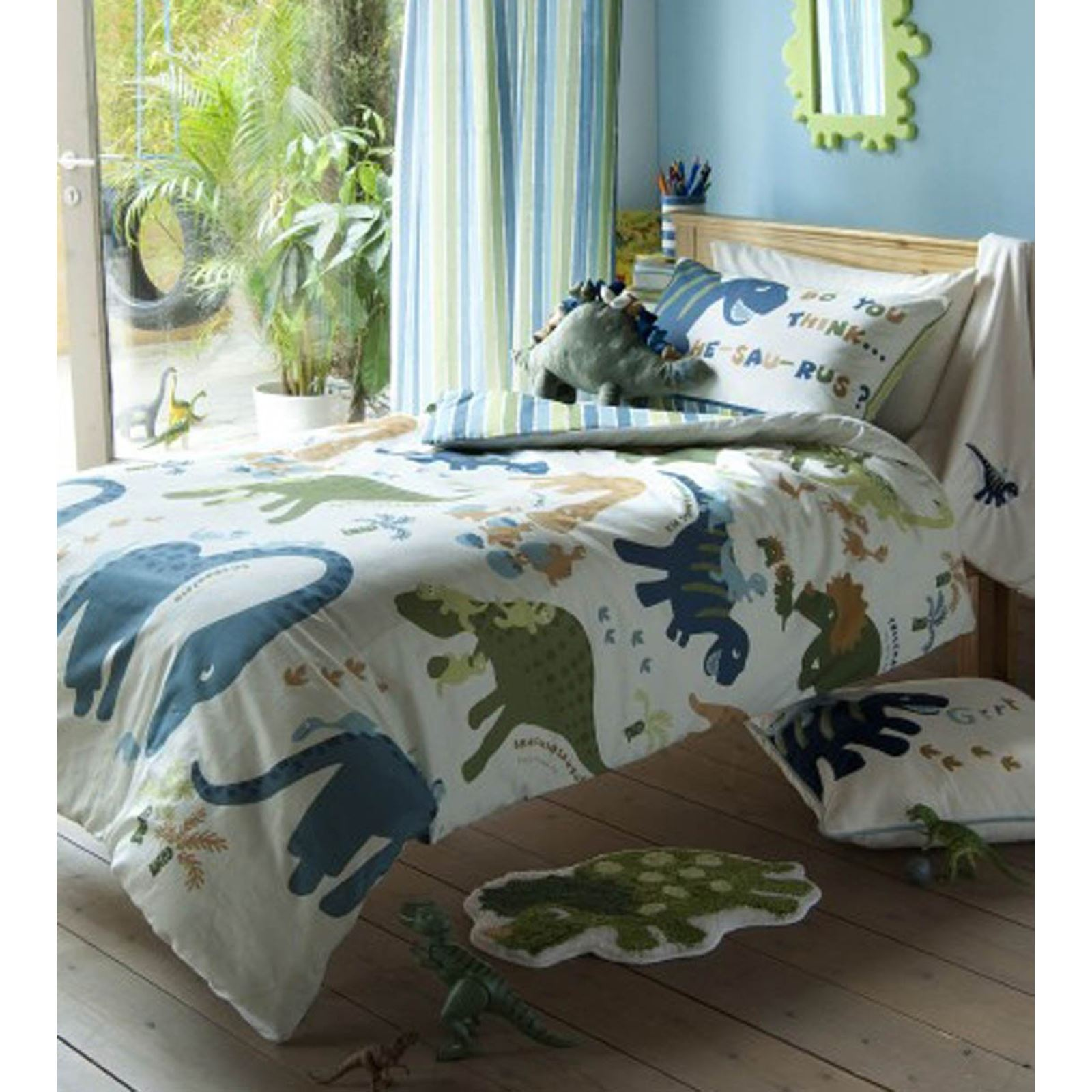CATHERINE LANSFIELD BEDROOM RANGE DINOSAUR BEDDING WALL MURAL AND