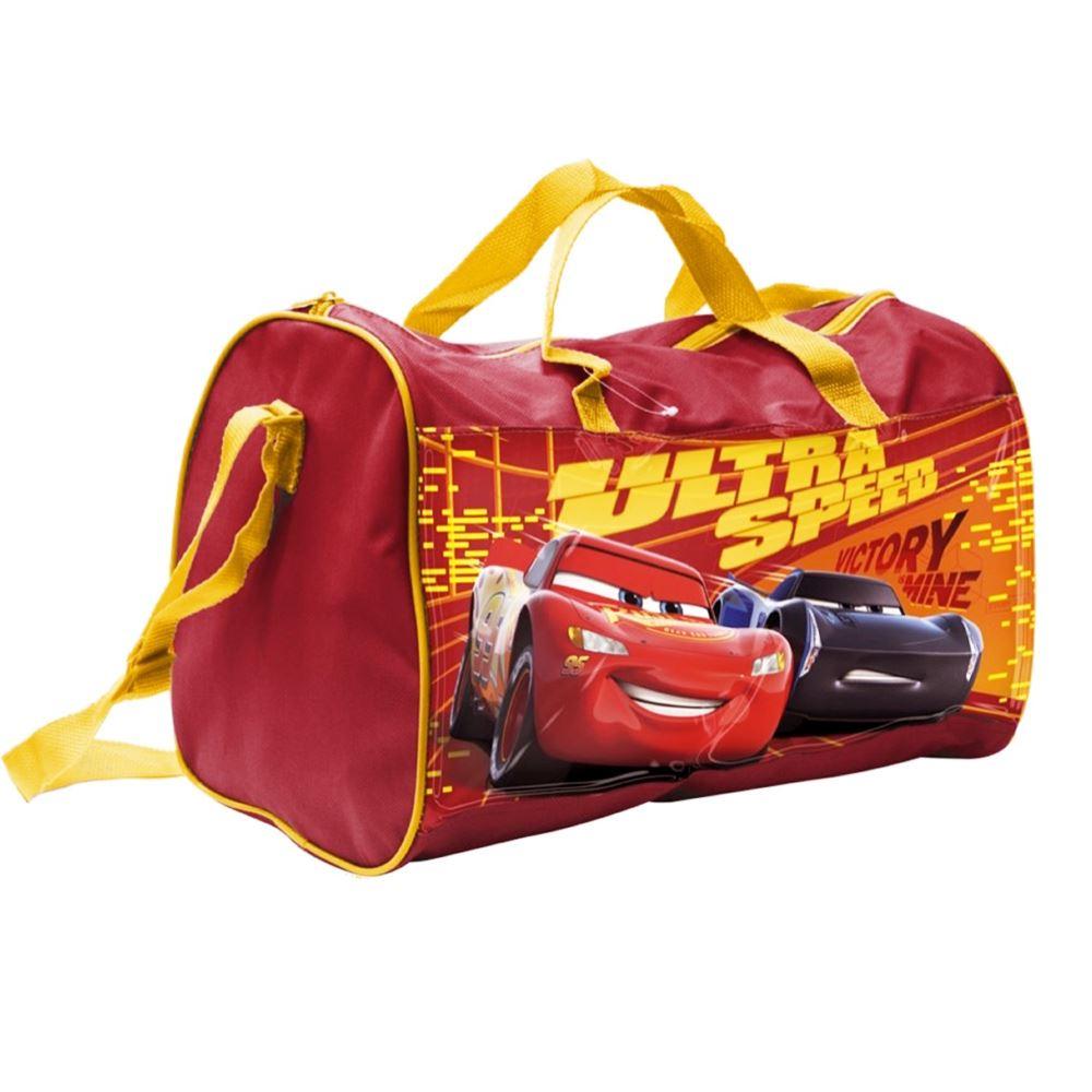 DISNEY CARS LIGHTNING MCQUEEN GYM SPORTS BAG RED TRAVEL KIDS BOYS ... a302dd1cf6bd3
