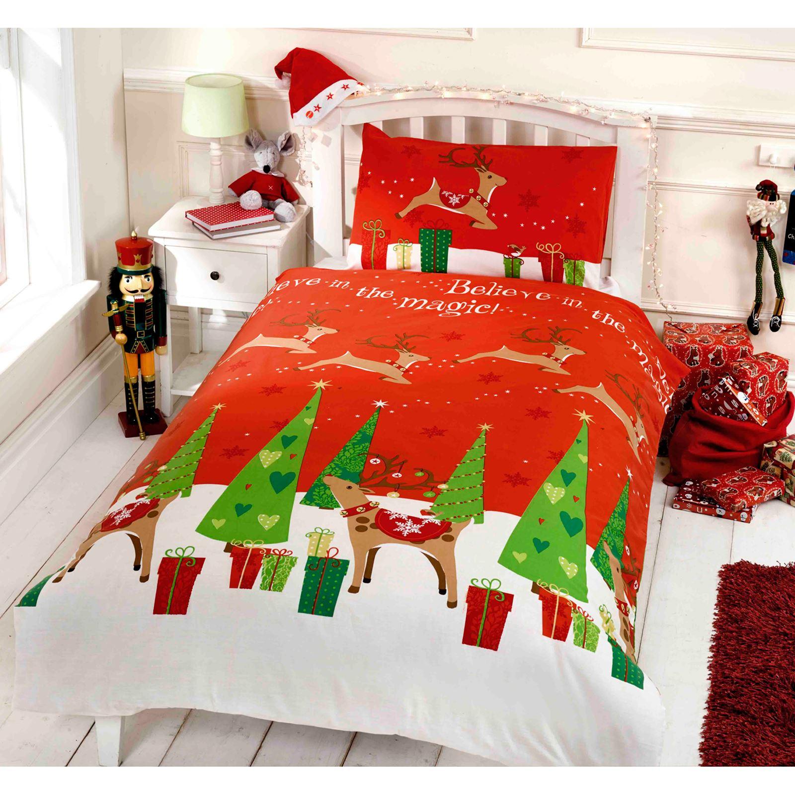 christmas duvet cover sets snowman santa reindeer bedding boys