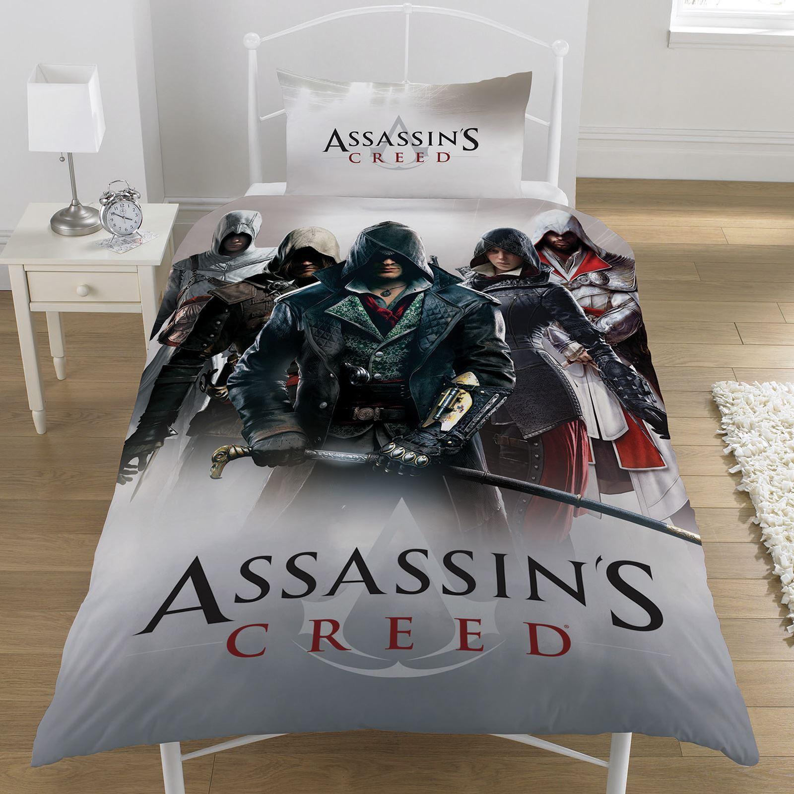 Assassins Creed Duvet Cover Sets Various Designs Boys Bedding Reversible 2 In 1 Ebay