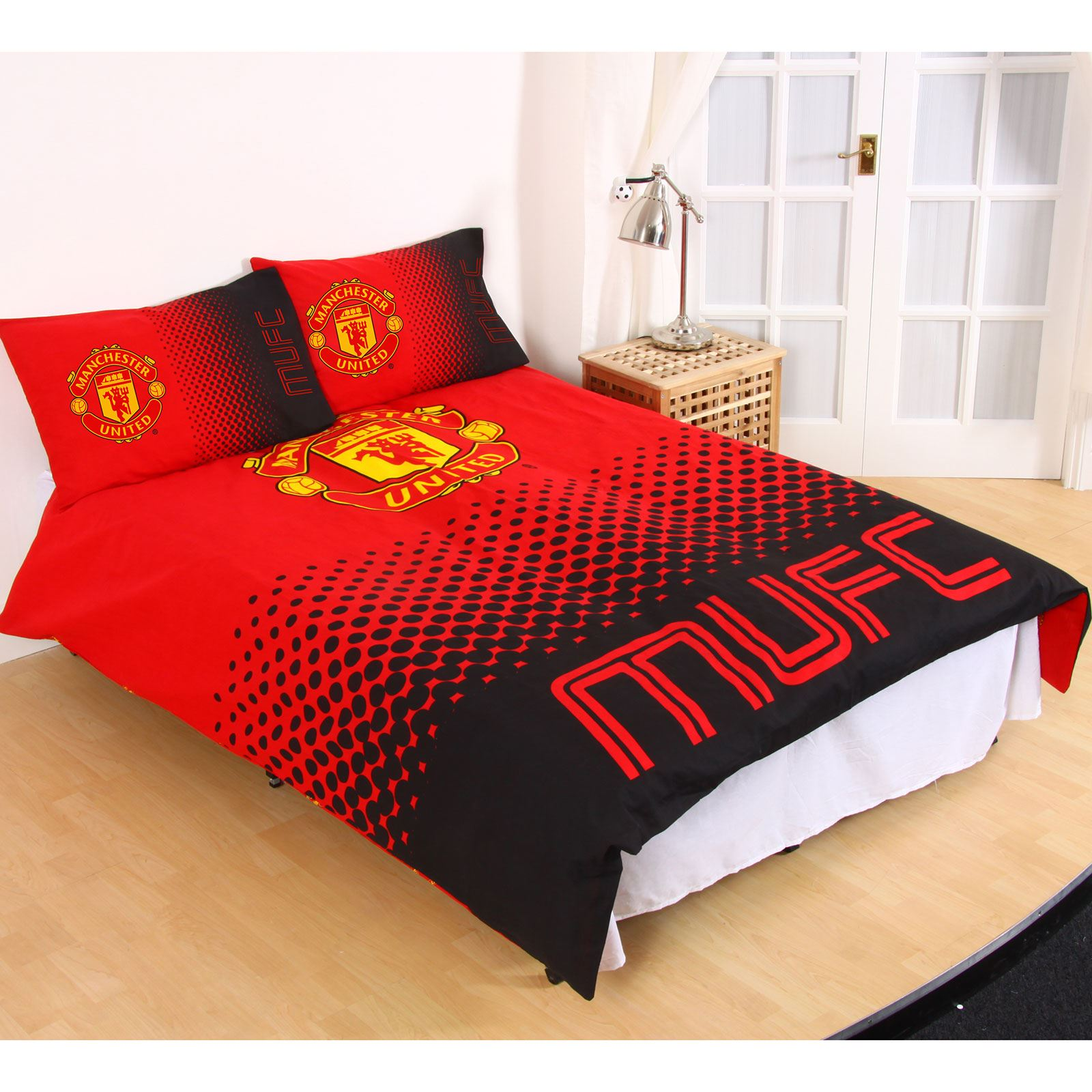 Manchester United Fc Fade Duvet Cover Sets Single