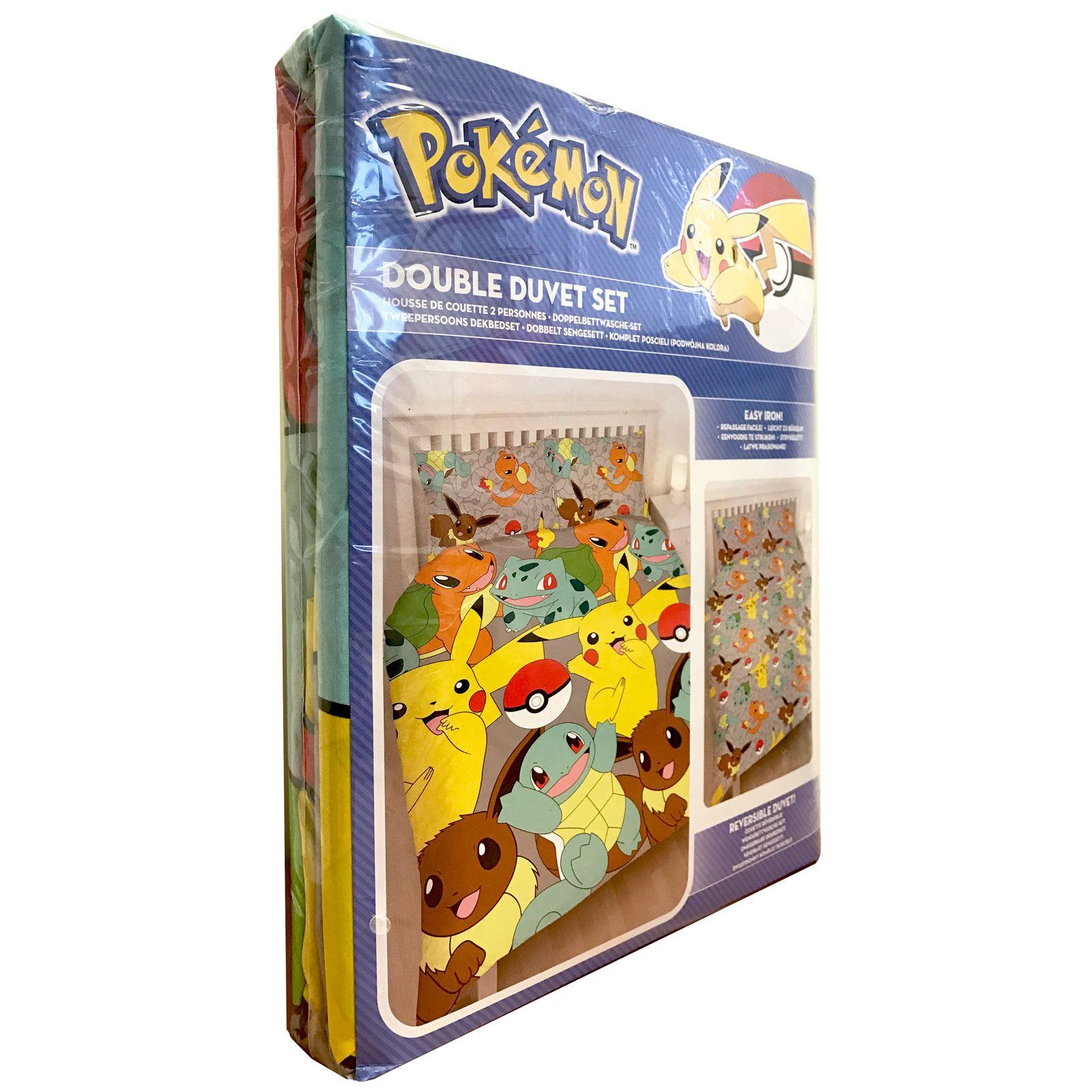 Pokemon Duvet Cover Sets Kids Bedding Reversible Single