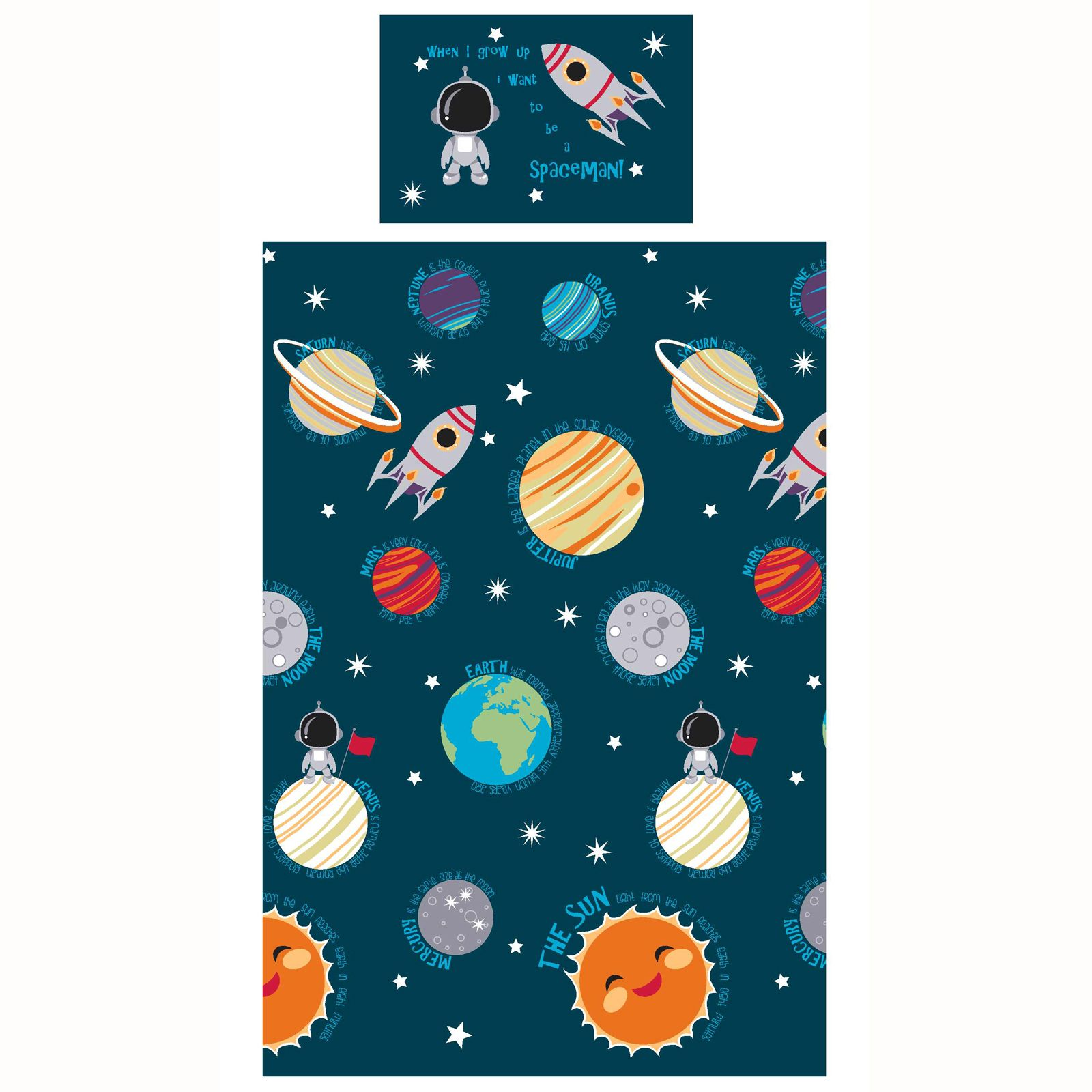 Funda Nordica Espacio.Detalles De Sistema Solar Conjunto De Funda Nordica Individual Nino Nuevo Hombre Espacio