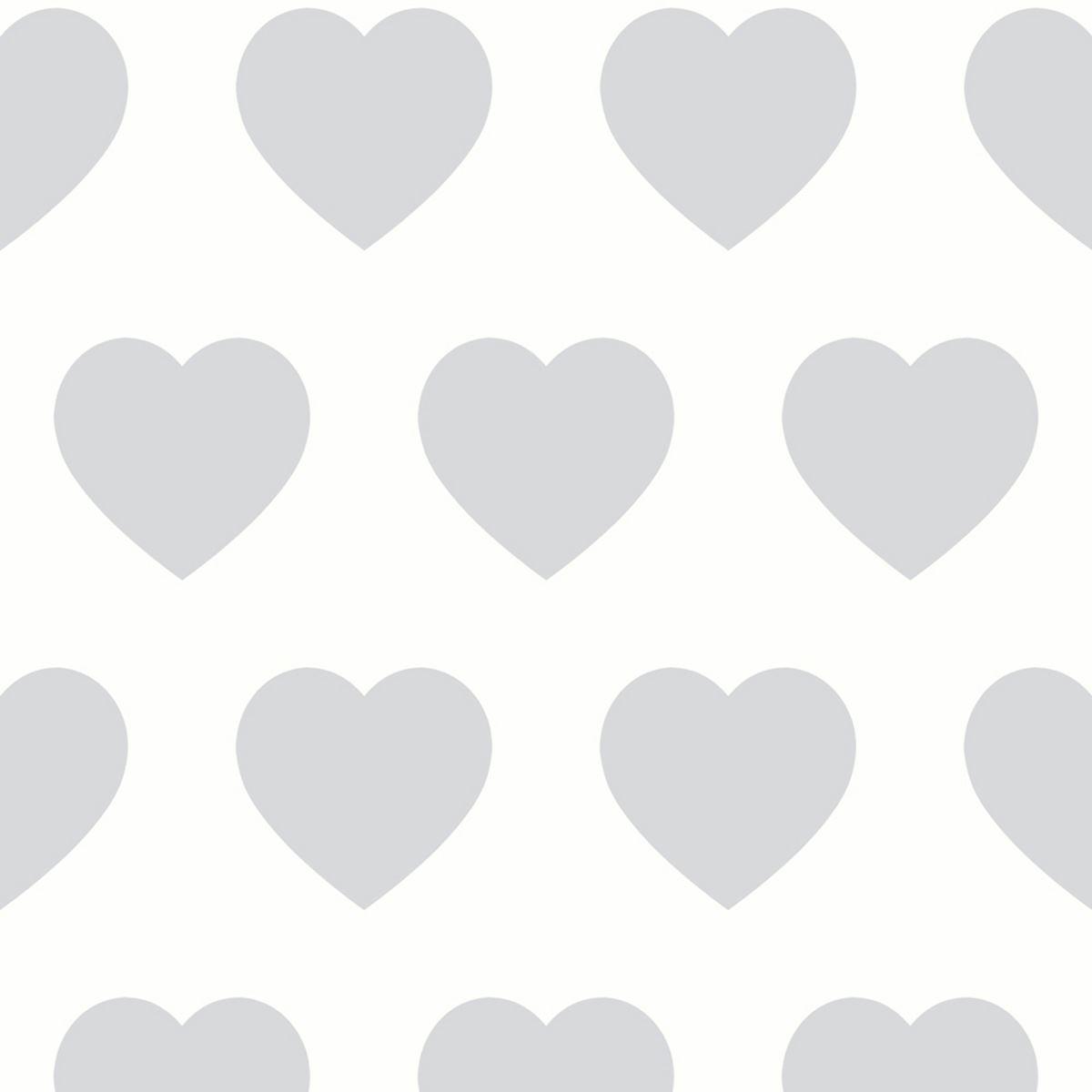 polka dots, stars, hearts & rosebuds patterned wallpaper nursery