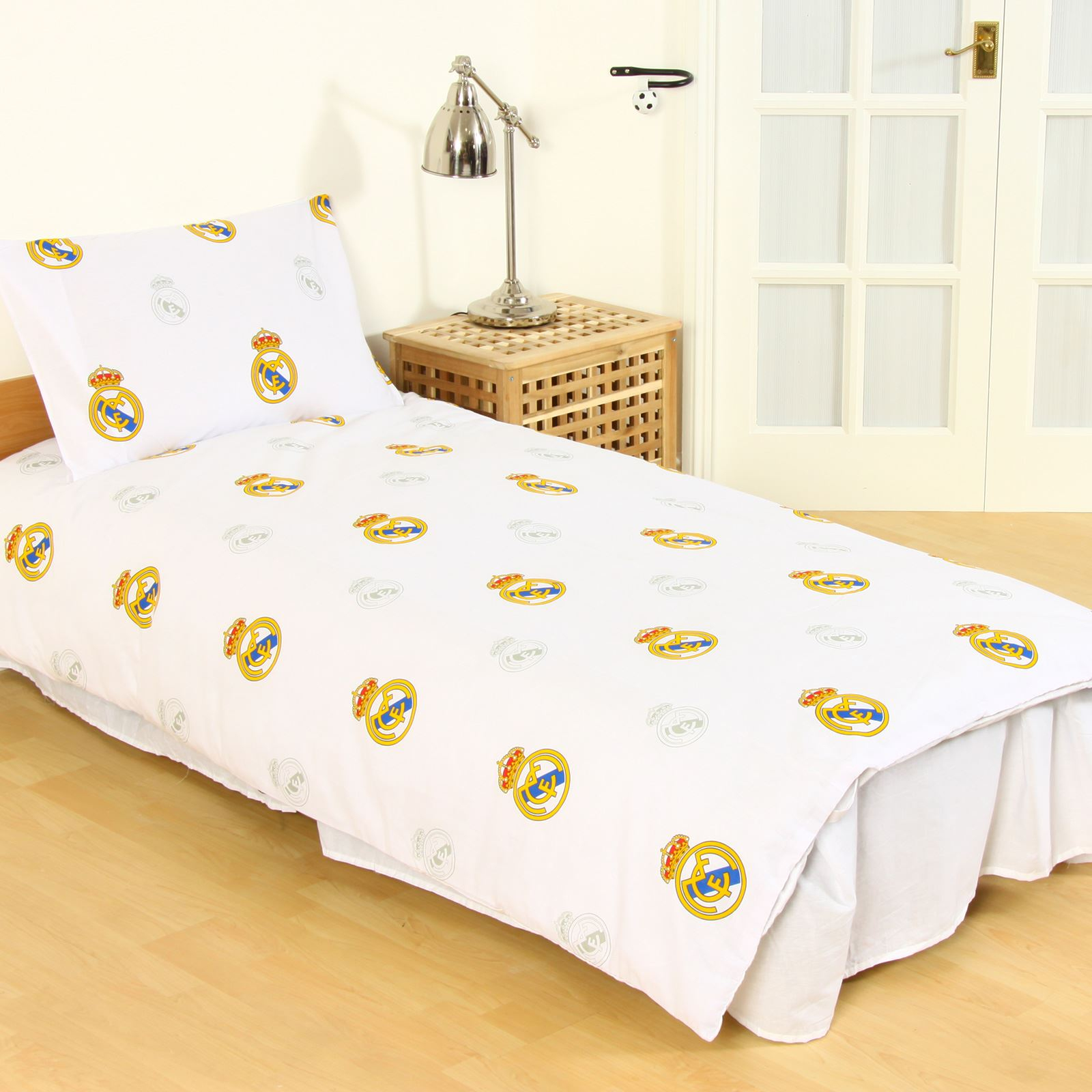 Officiel real madrid simple double housse couette for Literie couette